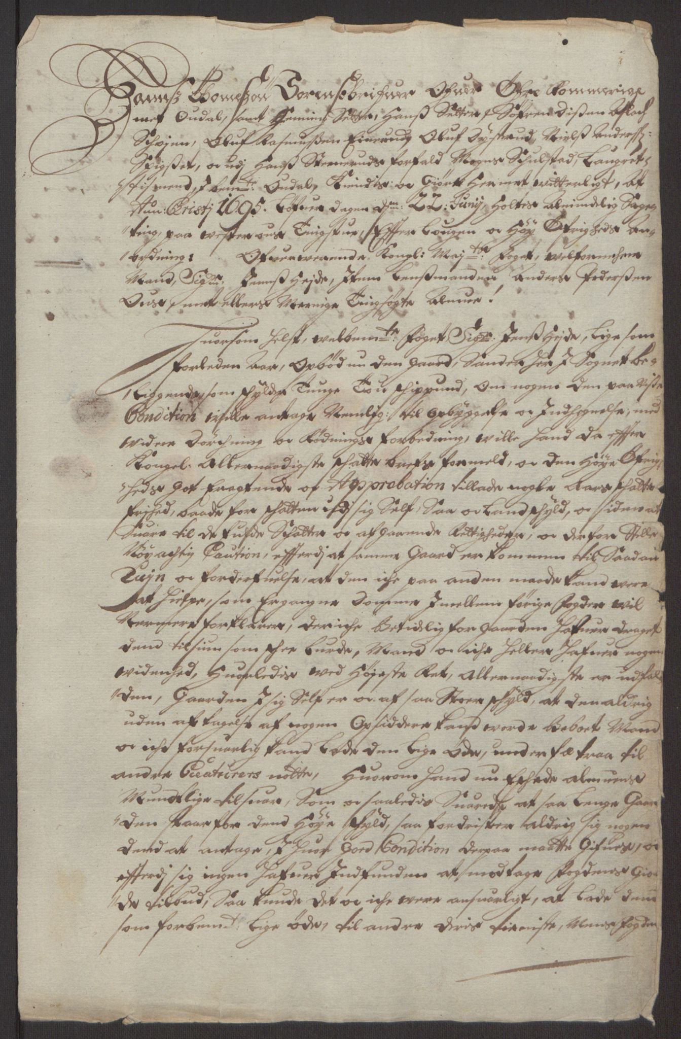 RA, Rentekammeret inntil 1814, Reviderte regnskaper, Fogderegnskap, R13/L0833: Fogderegnskap Solør, Odal og Østerdal, 1695, s. 321