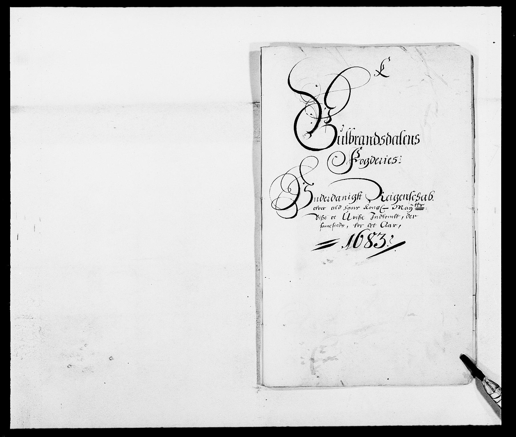 RA, Rentekammeret inntil 1814, Reviderte regnskaper, Fogderegnskap, R17/L1158: Fogderegnskap Gudbrandsdal, 1682-1689, s. 1