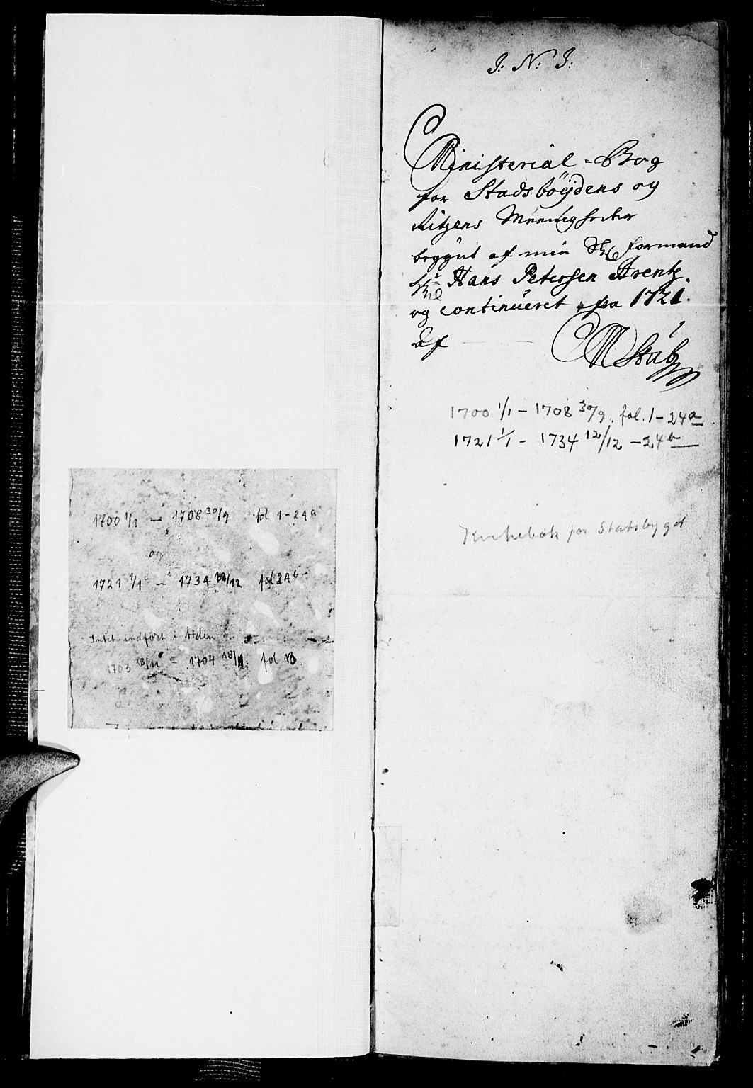 SAT, Ministerialprotokoller, klokkerbøker og fødselsregistre - Sør-Trøndelag, 646/L0603: Ministerialbok nr. 646A01, 1700-1734