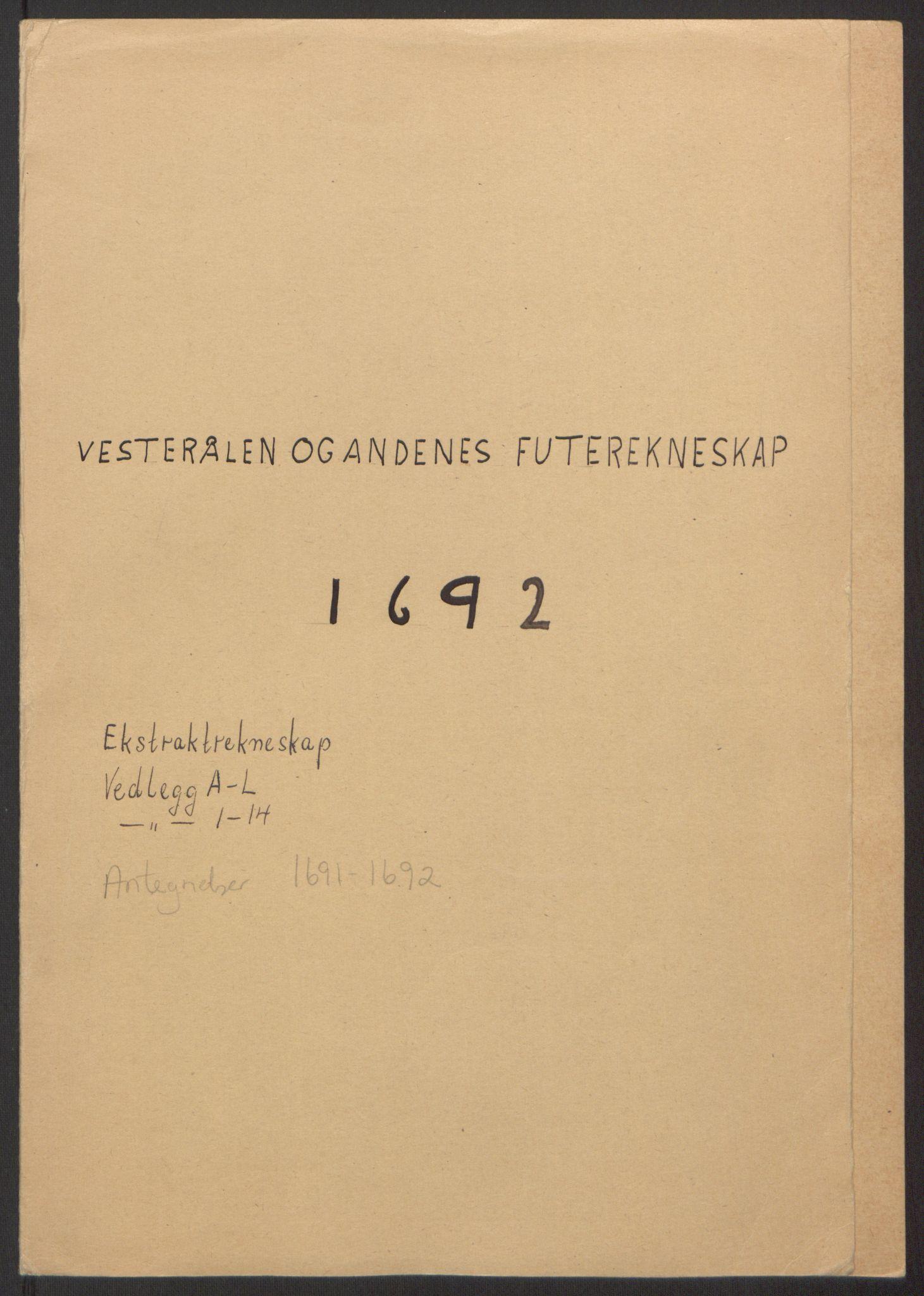 RA, Rentekammeret inntil 1814, Reviderte regnskaper, Fogderegnskap, R67/L4676: Fogderegnskap Vesterålen, Andenes og Lofoten, 1691-1693, s. 90