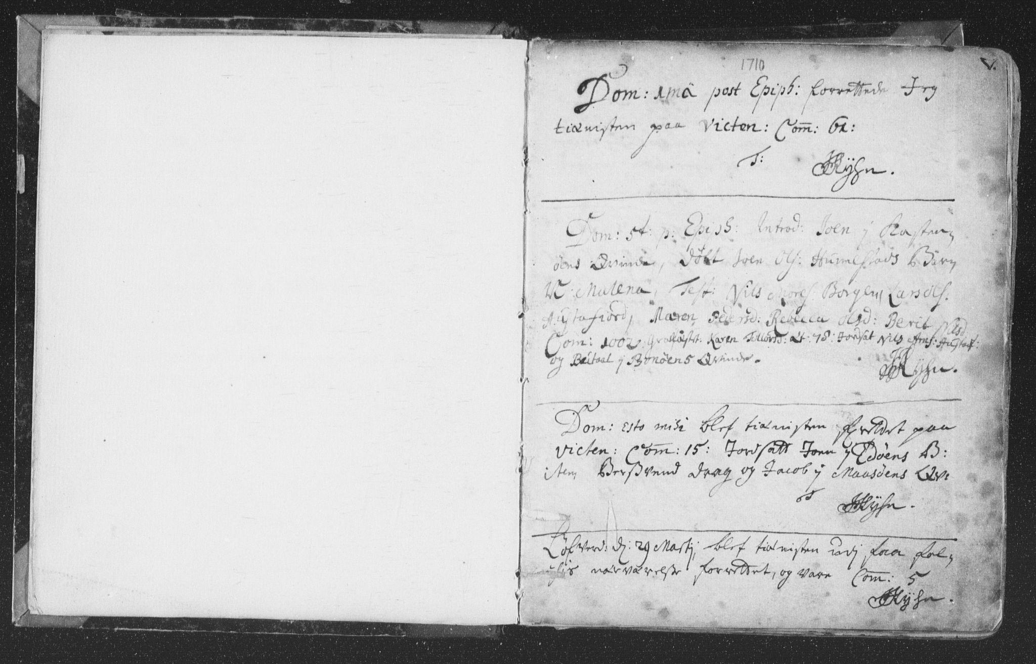 SAT, Ministerialprotokoller, klokkerbøker og fødselsregistre - Nord-Trøndelag, 786/L0685: Ministerialbok nr. 786A01, 1710-1798, s. 5
