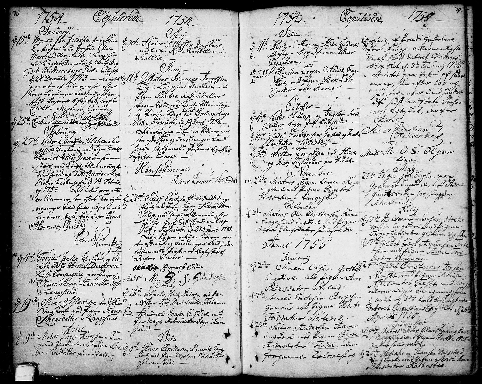 SAKO, Bamble kirkebøker, F/Fa/L0001: Ministerialbok nr. I 1, 1702-1774, s. 78-79