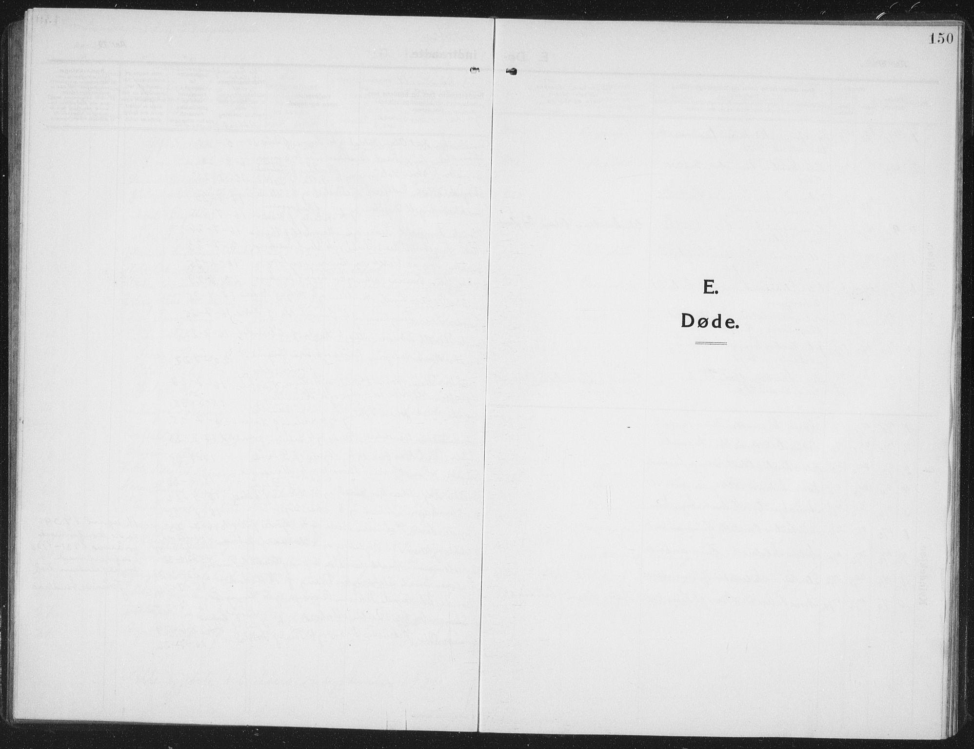 SAT, Ministerialprotokoller, klokkerbøker og fødselsregistre - Nord-Trøndelag, 742/L0413: Klokkerbok nr. 742C04, 1911-1938, s. 150