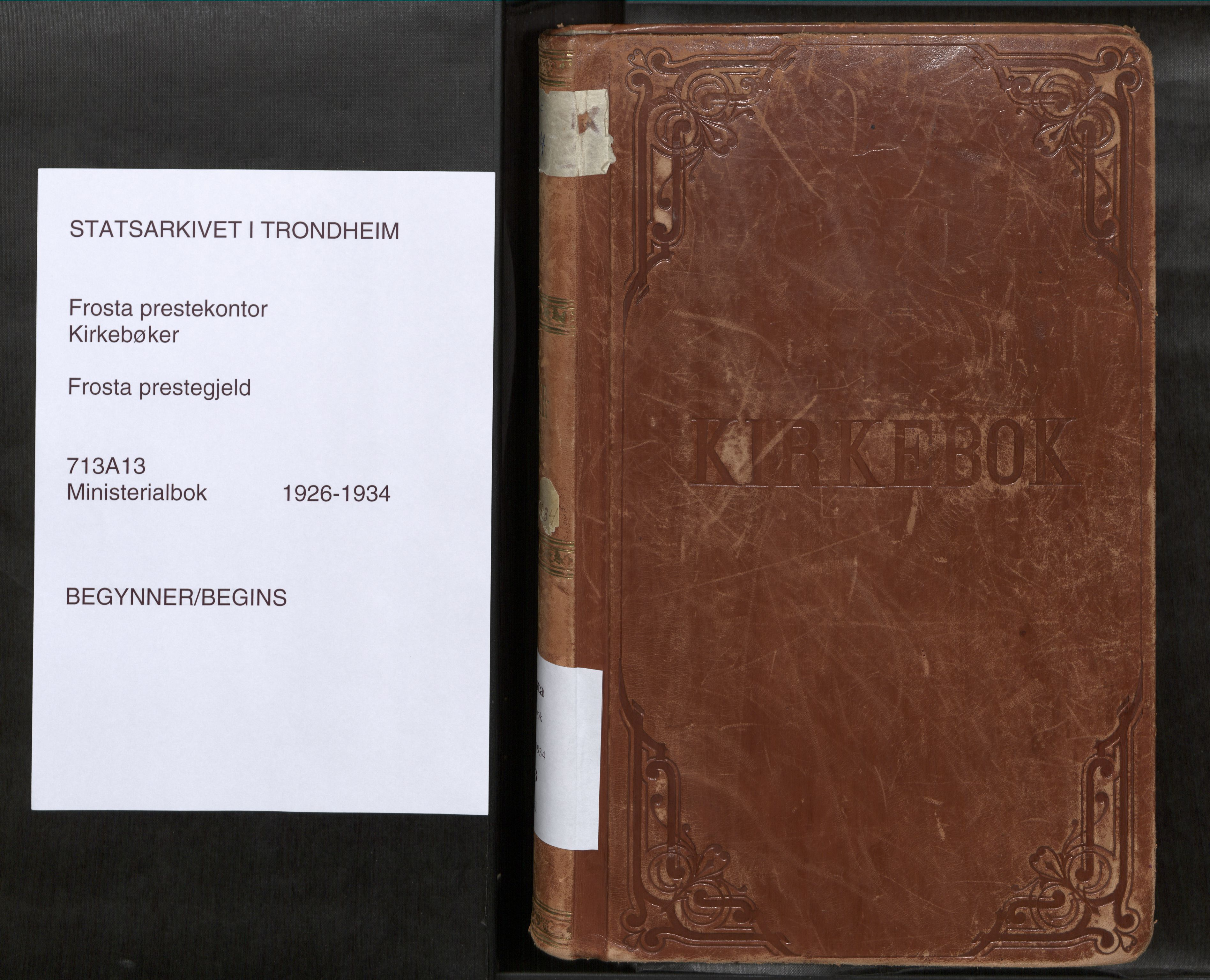 SAT, Frosta sokneprestkontor, H/Haa/L0001: Ministerialbok nr. 1, 1926-1934