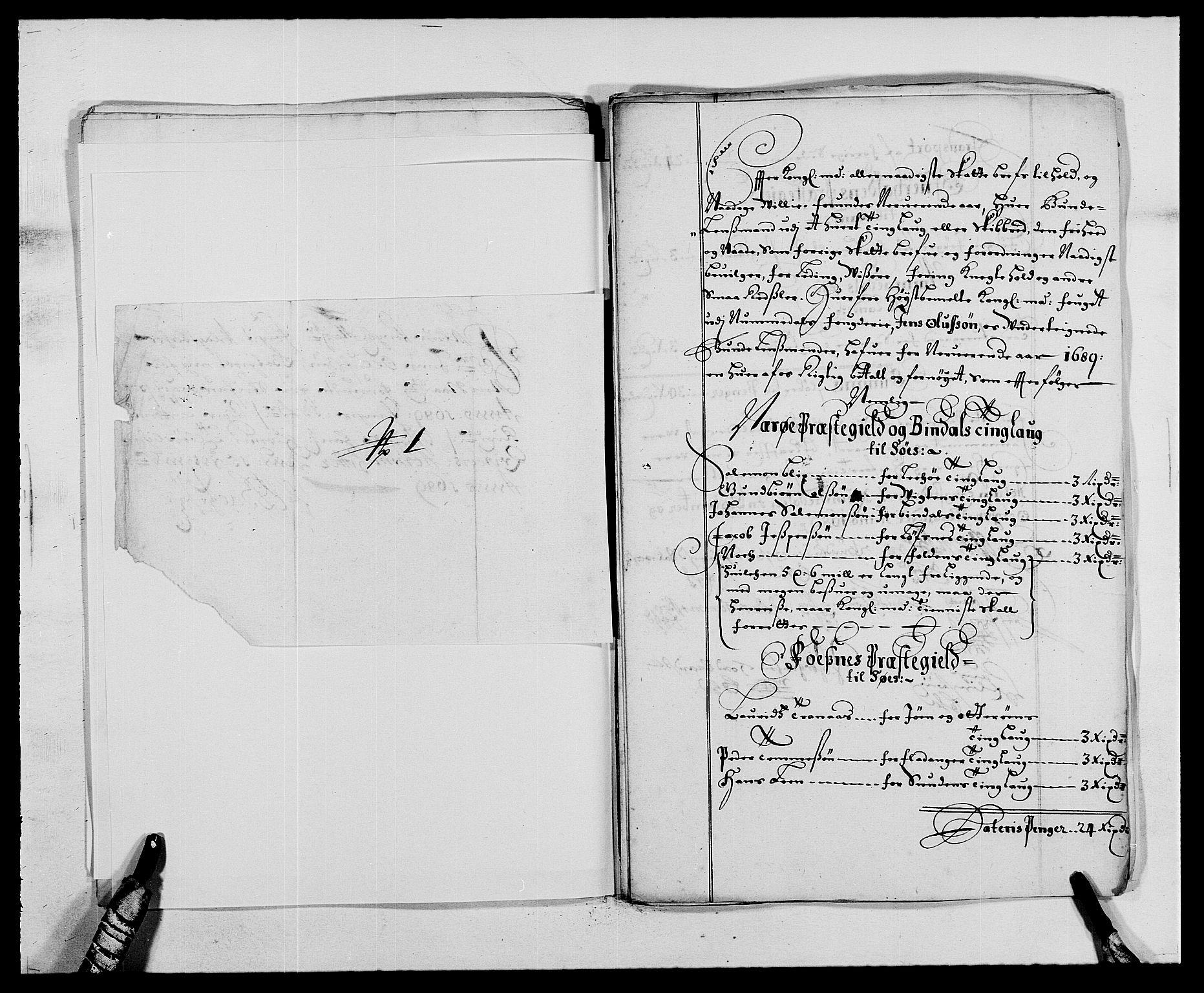 RA, Rentekammeret inntil 1814, Reviderte regnskaper, Fogderegnskap, R64/L4422: Fogderegnskap Namdal, 1687-1689, s. 292