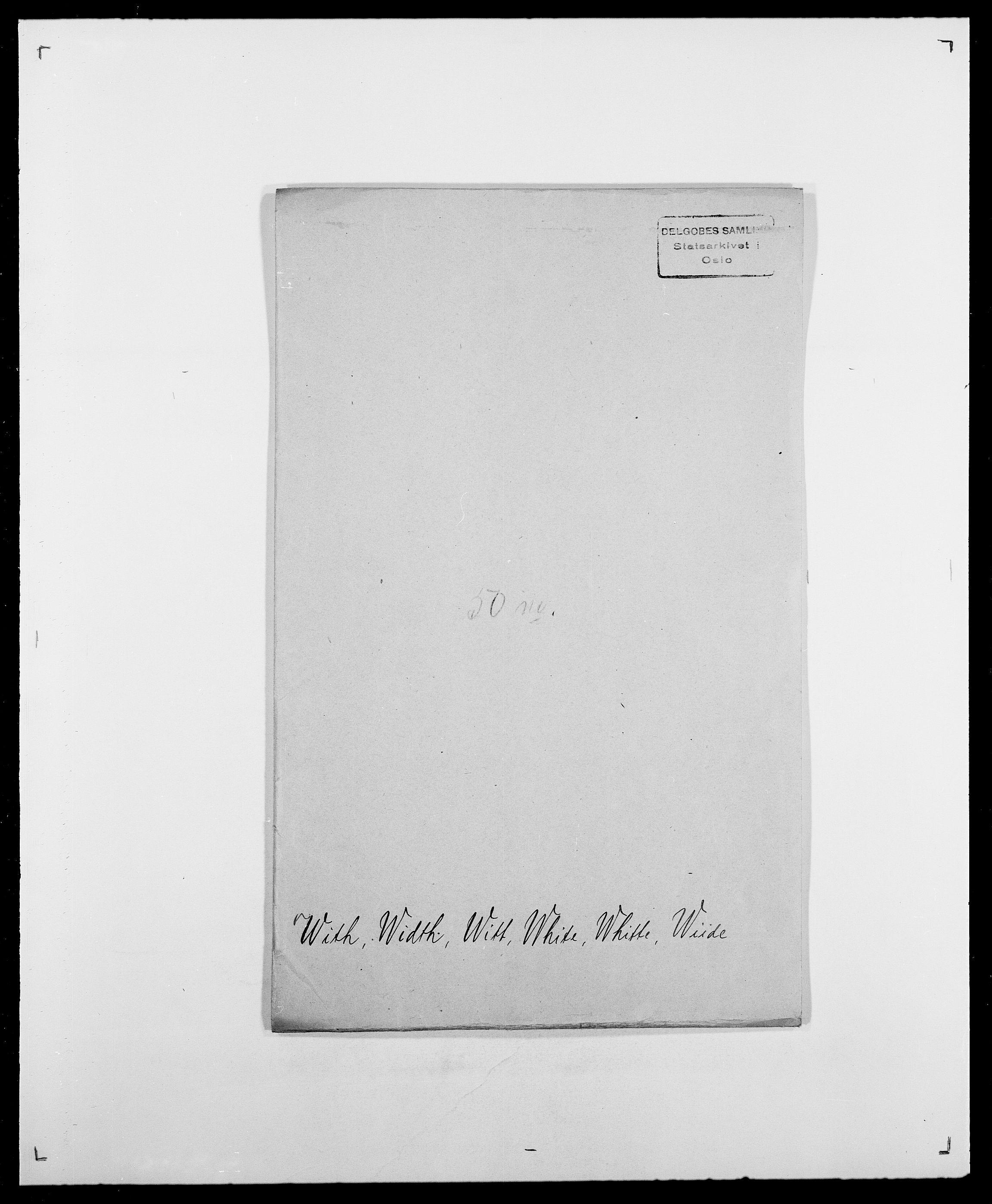 SAO, Delgobe, Charles Antoine - samling, D/Da/L0042: Vilain - Wulf, Wulff, se også Wolf, s. 417