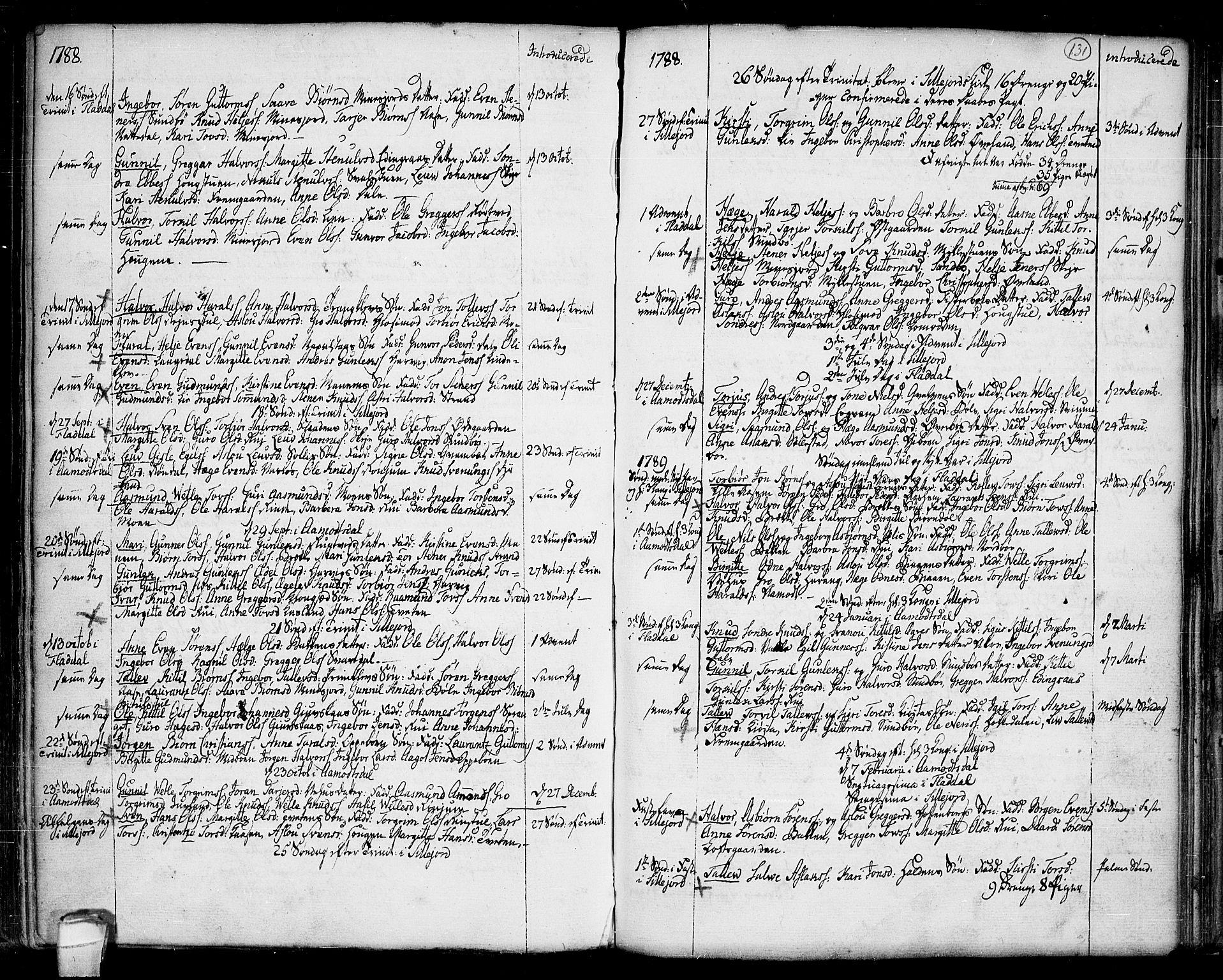 SAKO, Seljord kirkebøker, F/Fa/L0007: Ministerialbok nr. I 7, 1755-1800, s. 131