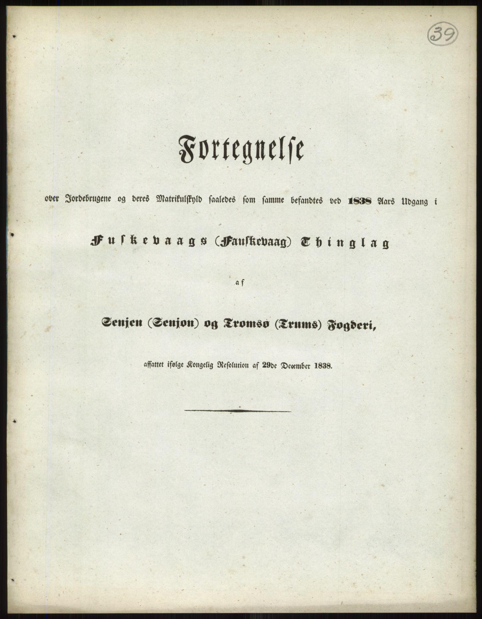 PUBL, Andre publikasjoner, -/Bind 18: Finnmarkens amt: Senja og Tromsø fogderi, 1838, s. 59