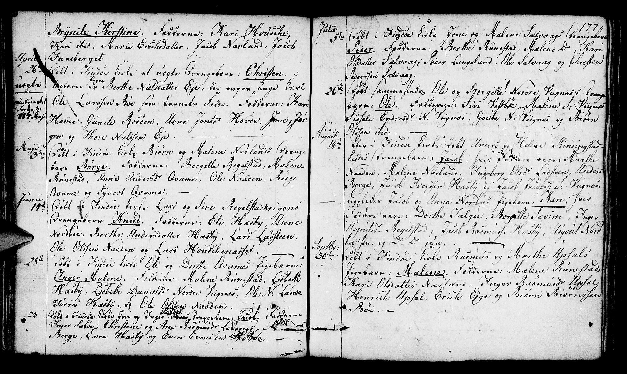 SAST, Finnøy sokneprestkontor, H/Ha/Haa/L0005: Ministerialbok nr. A 5, 1773-1816, s. 177