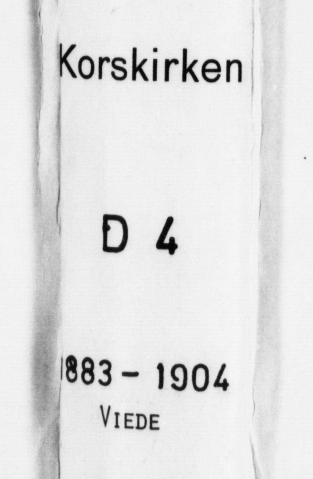 SAB, Korskirken Sokneprestembete, H/Haa/L0037: Ministerialbok nr. D 4, 1883-1904