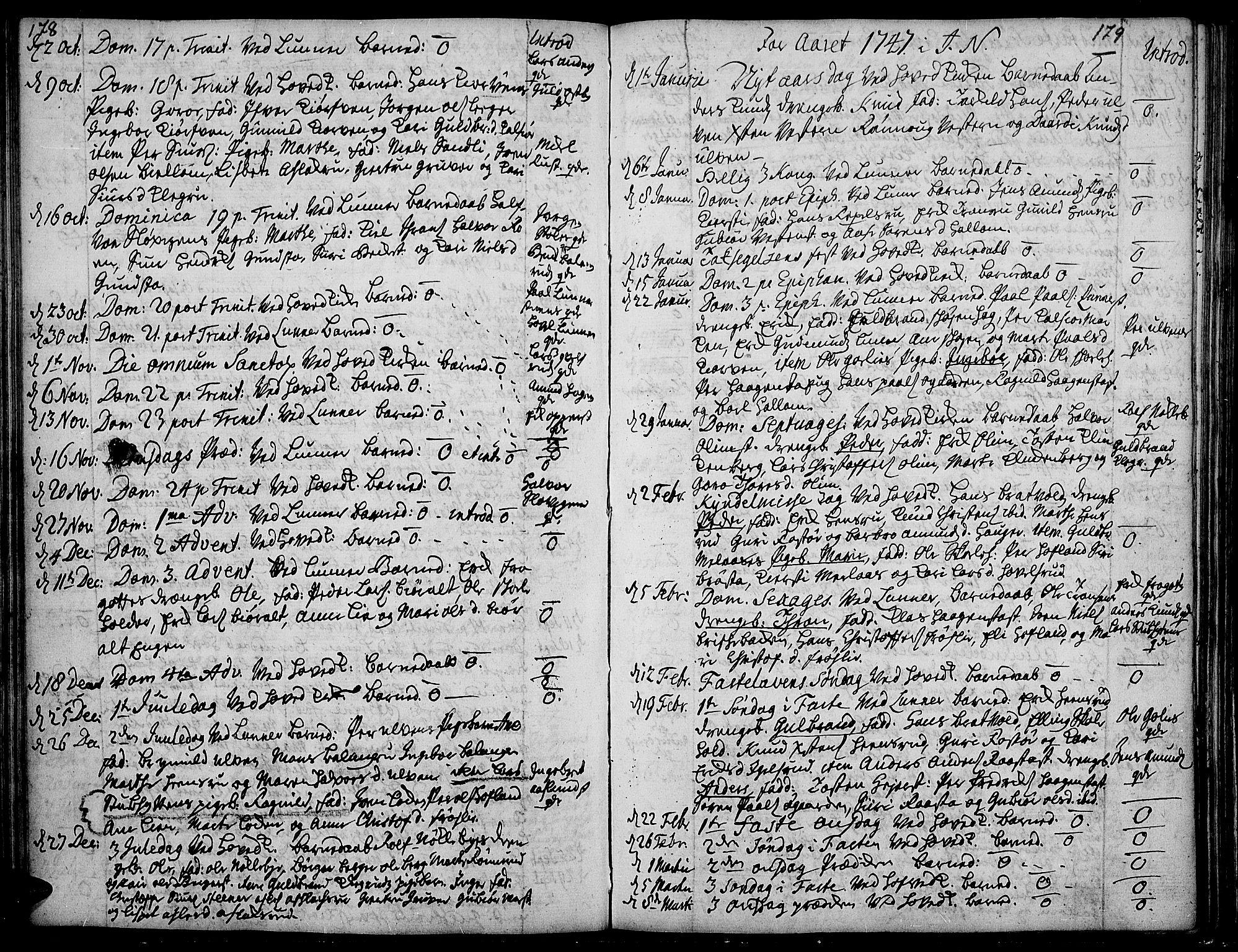 SAH, Jevnaker prestekontor, Ministerialbok nr. 2, 1725-1751, s. 178-179