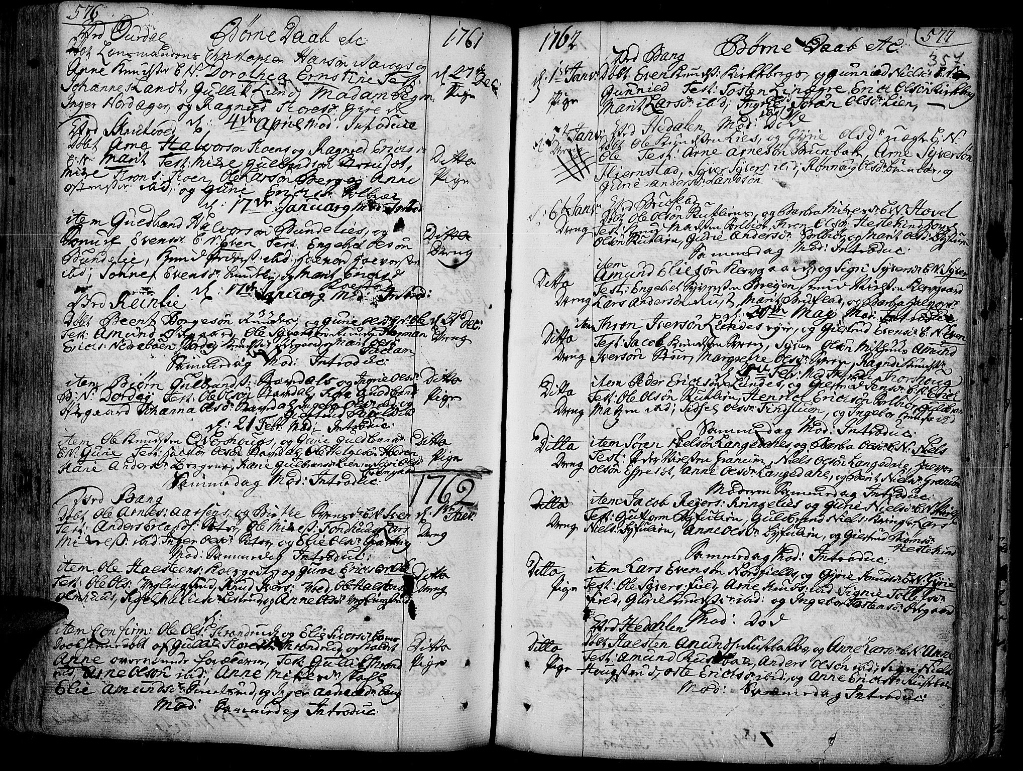 SAH, Aurdal prestekontor, Ministerialbok nr. 4, 1730-1762, s. 576-577