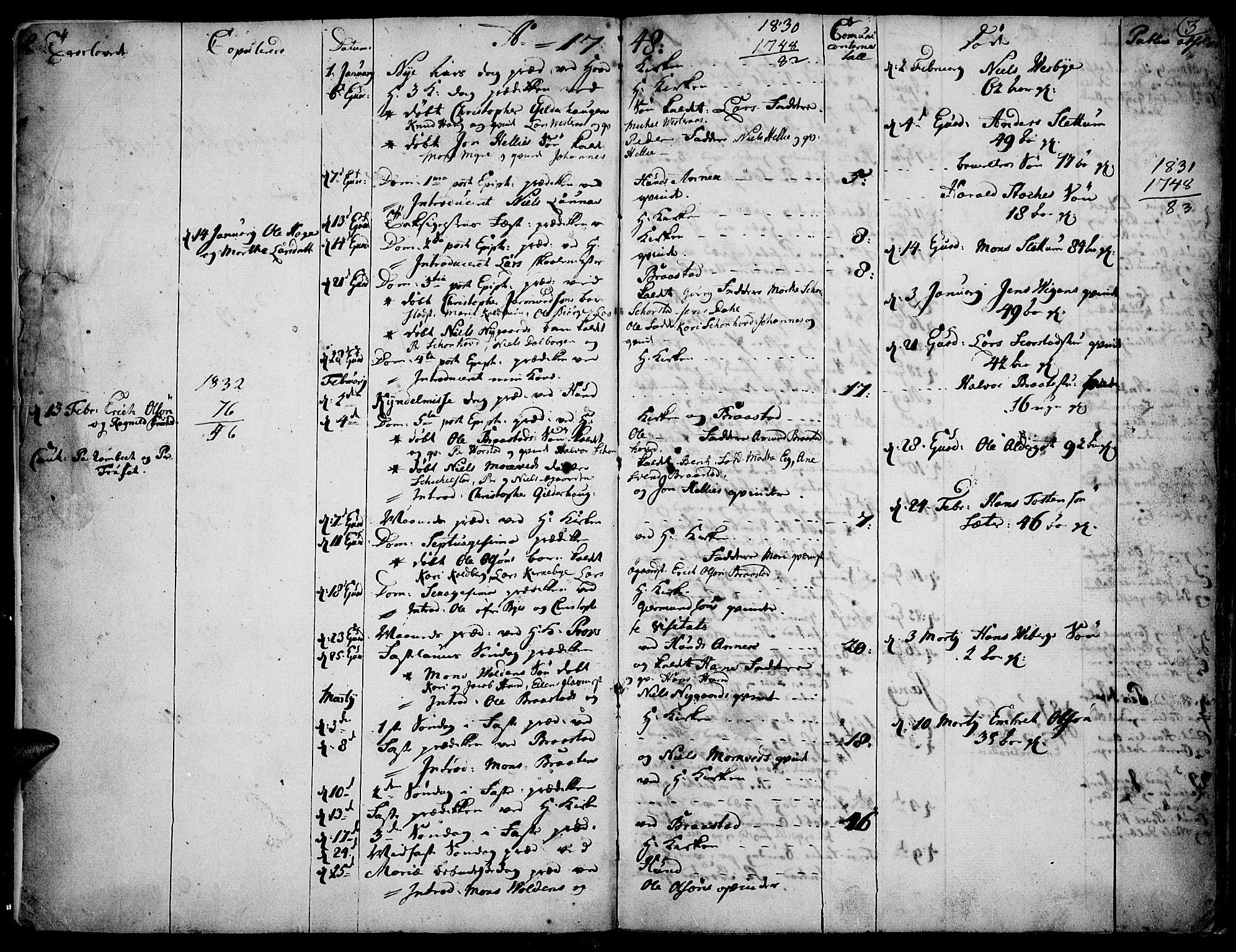 SAH, Vardal prestekontor, H/Ha/Haa/L0002: Ministerialbok nr. 2, 1748-1776, s. 2-3