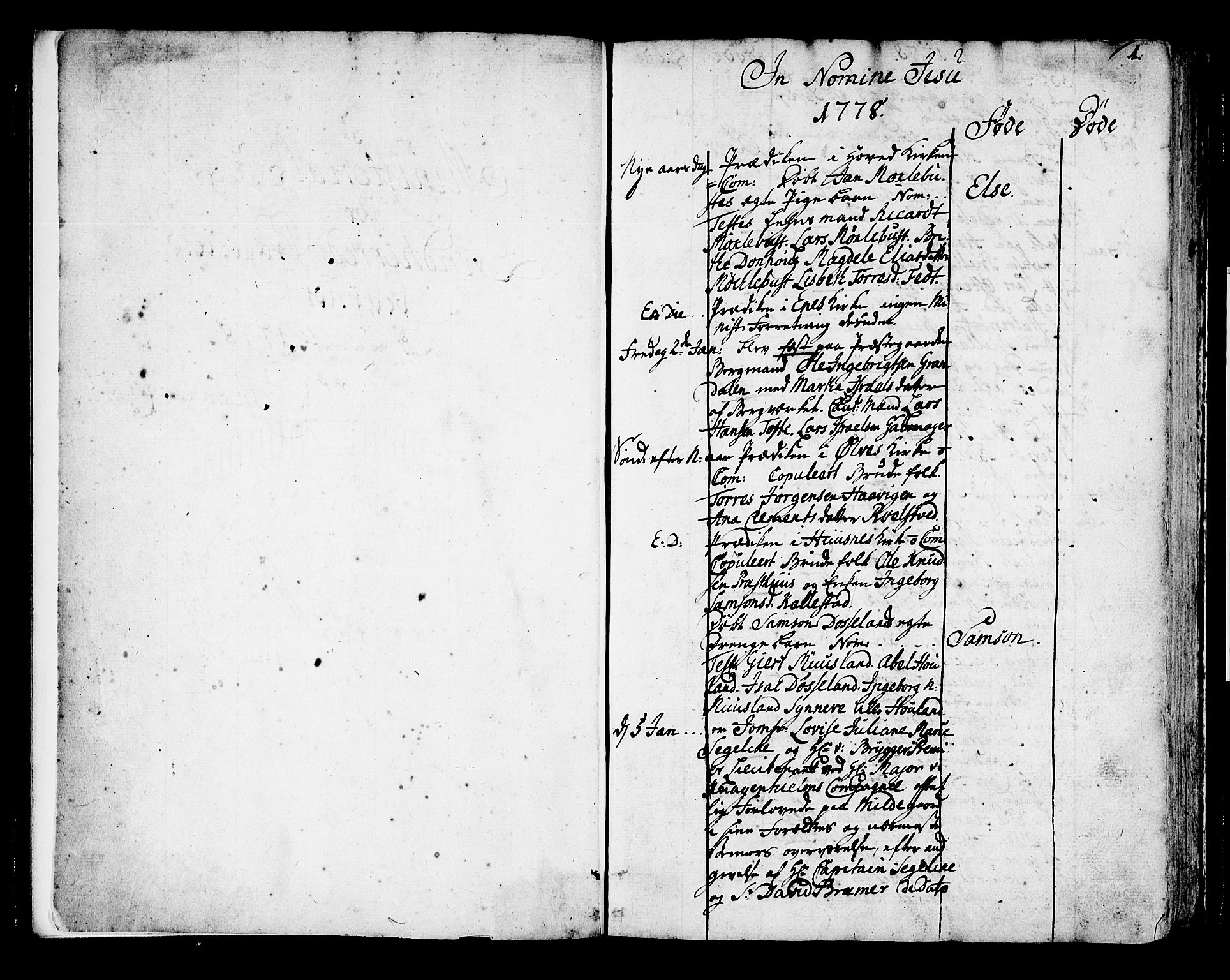 SAB, Kvinnherad Sokneprestembete, H/Haa: Ministerialbok nr. A 4, 1778-1811, s. 0-1