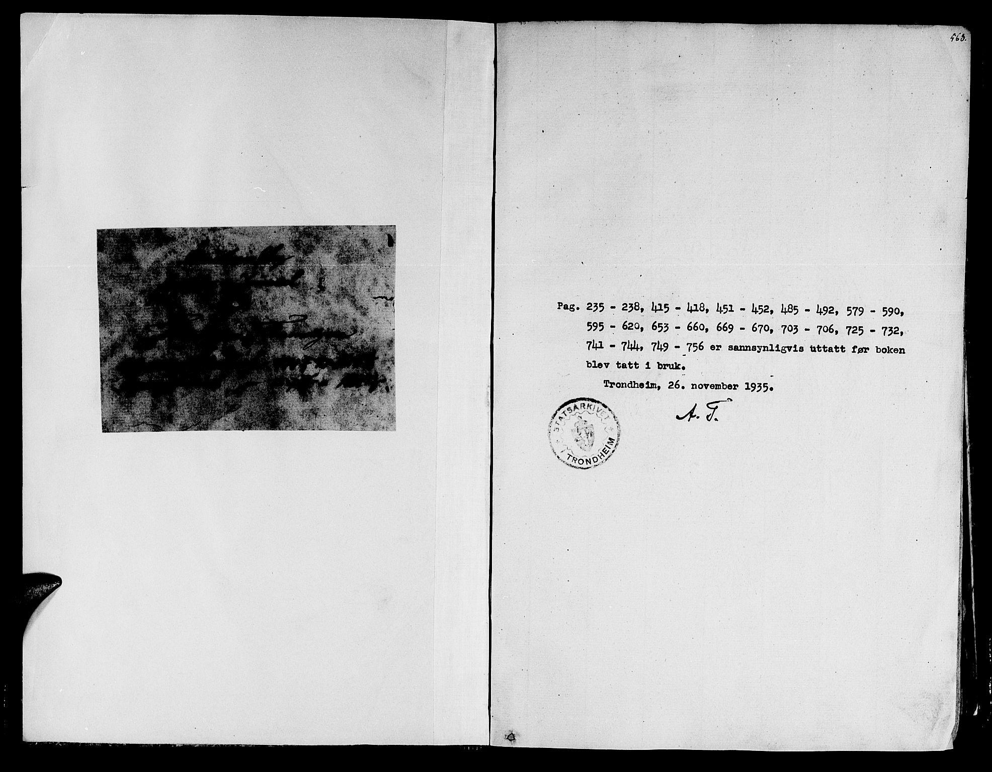 SAT, Ministerialprotokoller, klokkerbøker og fødselsregistre - Sør-Trøndelag, 602/L0105: Ministerialbok nr. 602A03, 1774-1814, s. 563