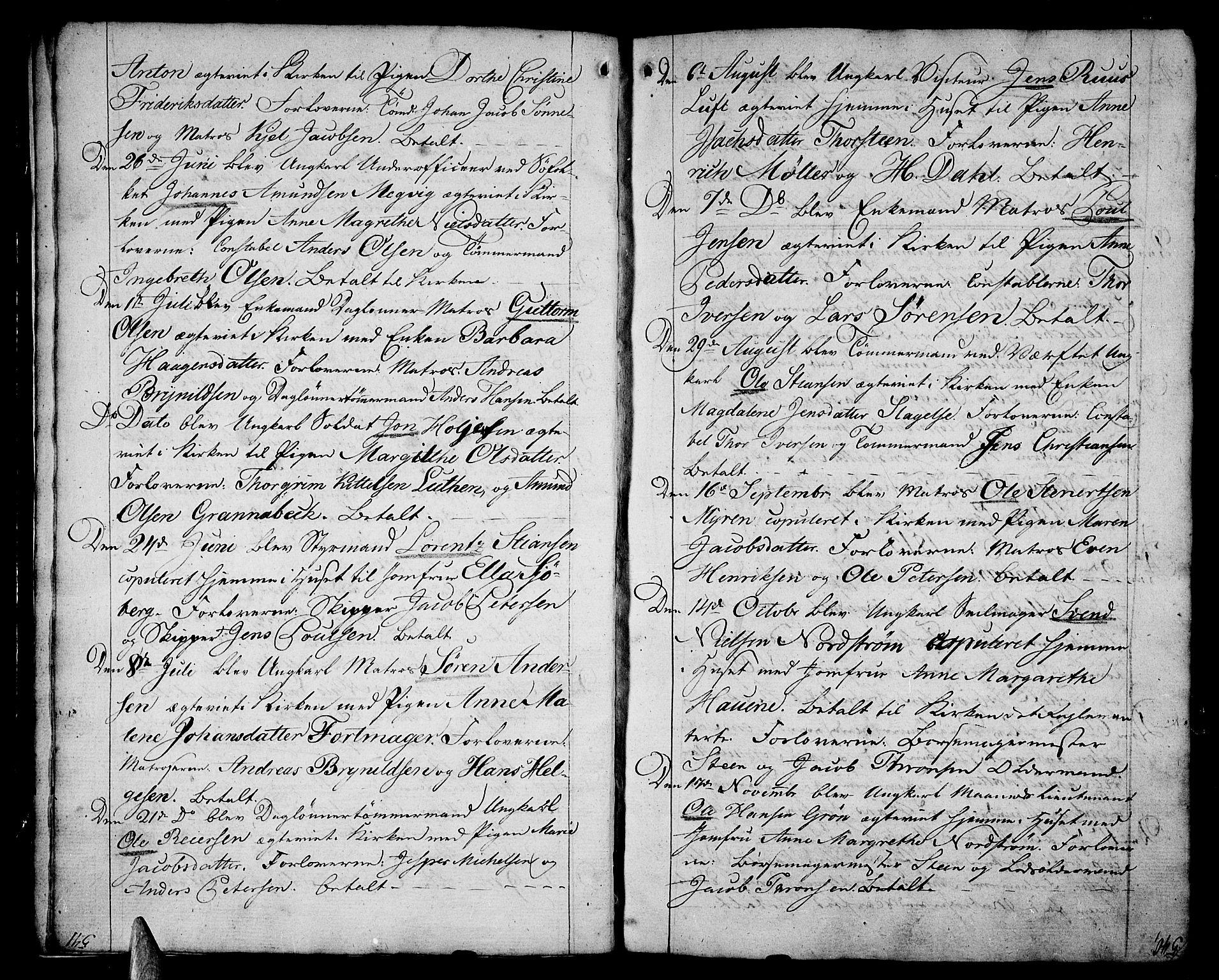 SAKO, Stavern kirkebøker, F/Fa/L0004: Ministerialbok nr. 4, 1809-1816, s. 540-541