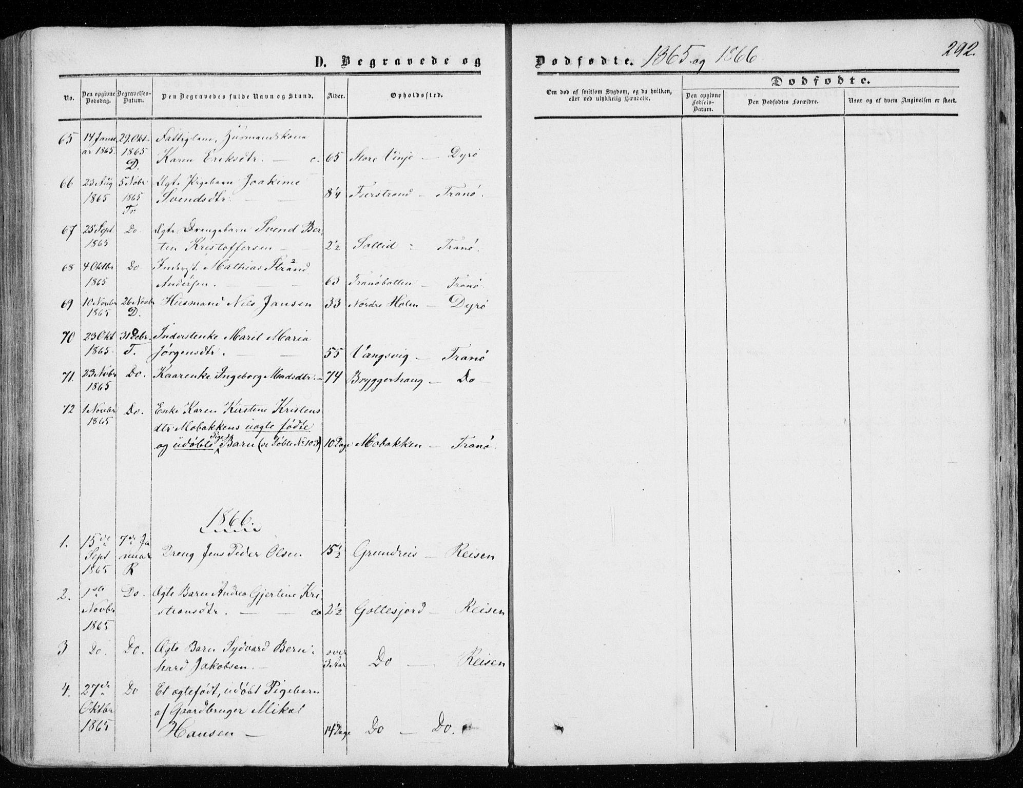 SATØ, Tranøy sokneprestkontor, I/Ia/Iaa/L0007kirke: Ministerialbok nr. 7, 1856-1866, s. 292