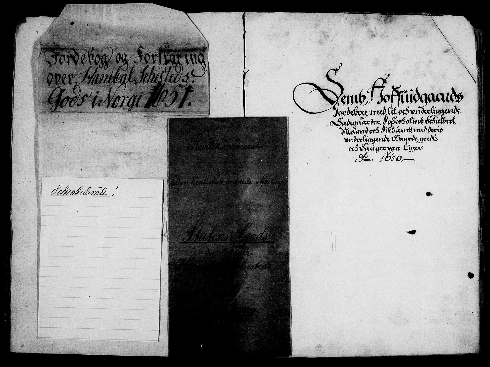 RA, Rentekammeret inntil 1814, Realistisk ordnet avdeling, On/L0001: Statens gods, 1651, s. 2