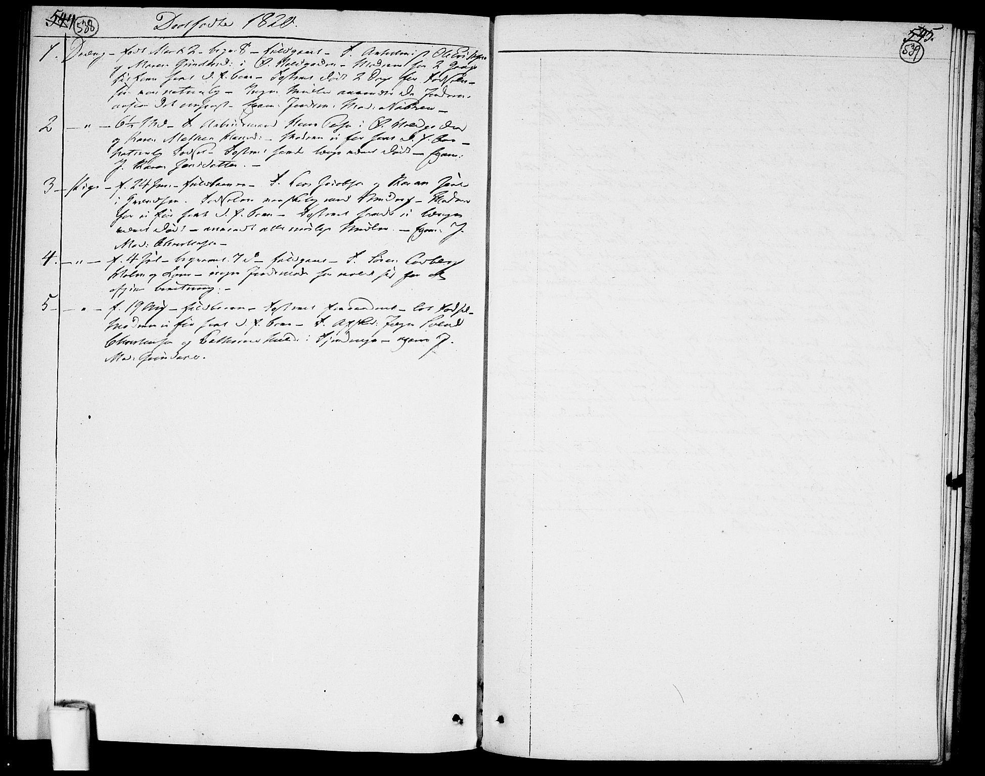SAO, Garnisonsmenigheten Kirkebøker, F/Fa/L0004: Ministerialbok nr. 4, 1820-1828, s. 538-539