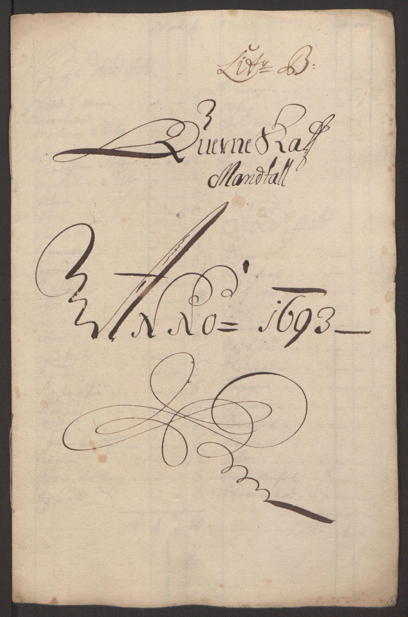 RA, Rentekammeret inntil 1814, Reviderte regnskaper, Fogderegnskap, R63/L4308: Fogderegnskap Inderøy, 1692-1694, s. 426