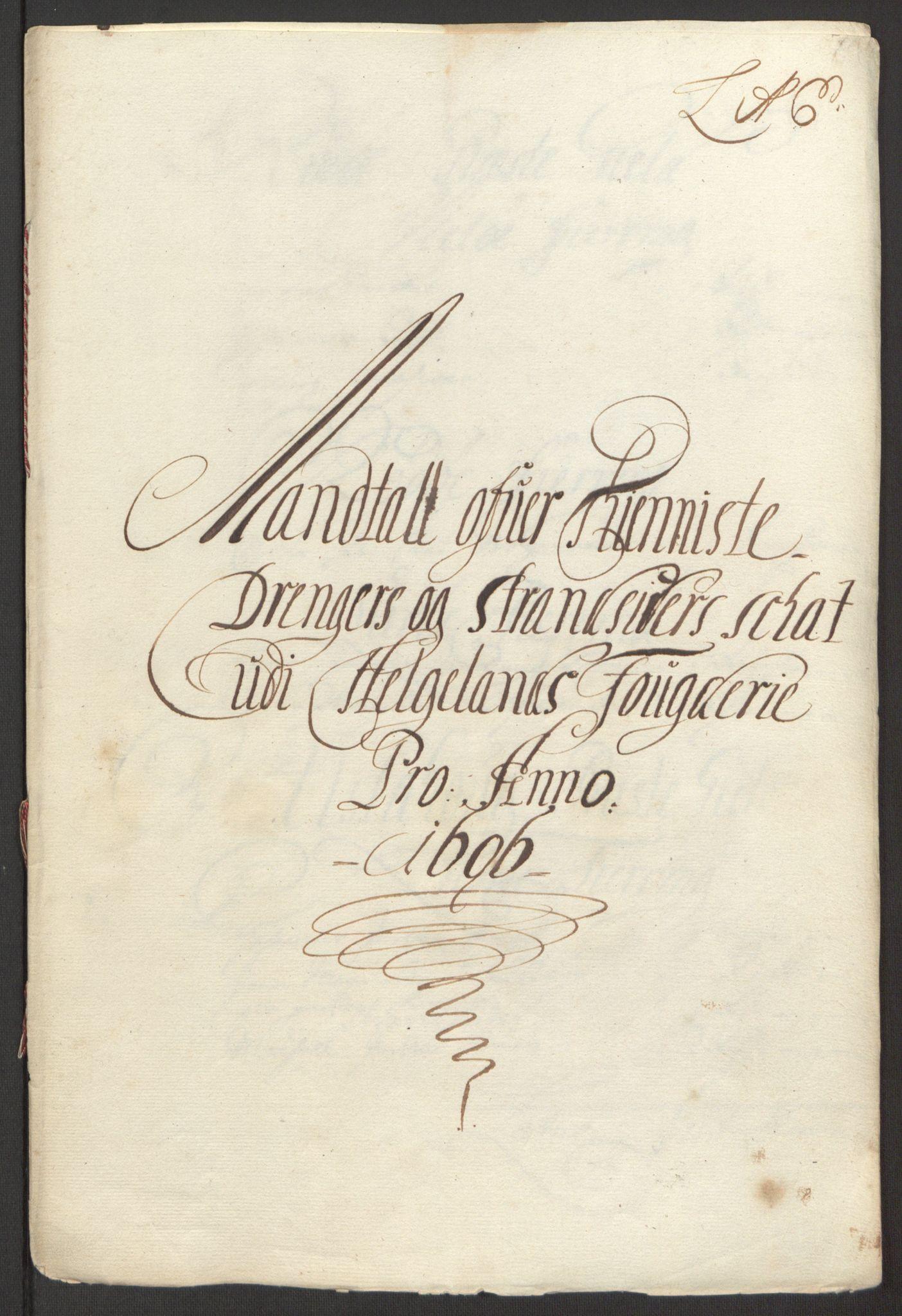 RA, Rentekammeret inntil 1814, Reviderte regnskaper, Fogderegnskap, R65/L4505: Fogderegnskap Helgeland, 1693-1696, s. 504
