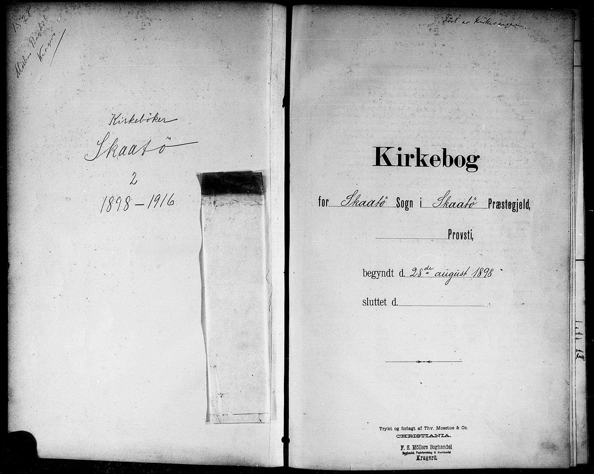 SAKO, Skåtøy kirkebøker, G/Ga/L0004: Klokkerbok nr. I 4, 1898-1916