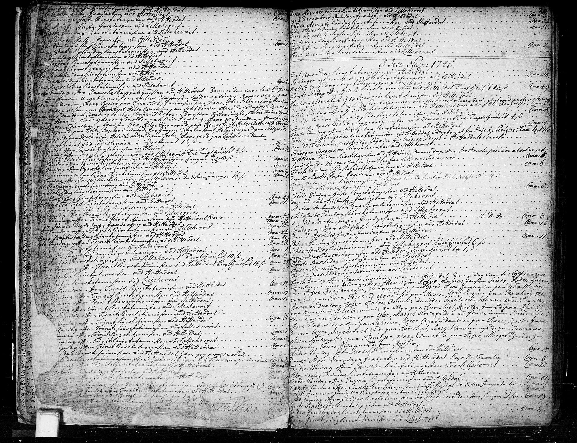 SAKO, Heddal kirkebøker, F/Fa/L0003: Ministerialbok nr. I 3, 1723-1783, s. 20