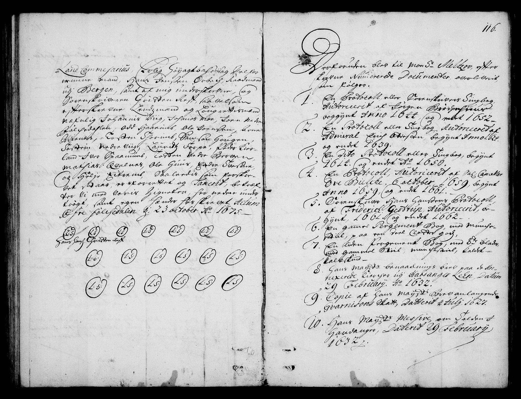 RA, Rentekammeret inntil 1814, Realistisk ordnet avdeling, On/L0003: [Jj 4]: Kommisjonsforretning over Vilhelm Hanssøns forpaktning av Halsnøy klosters gods, 1712-1722, s. 115b-116a