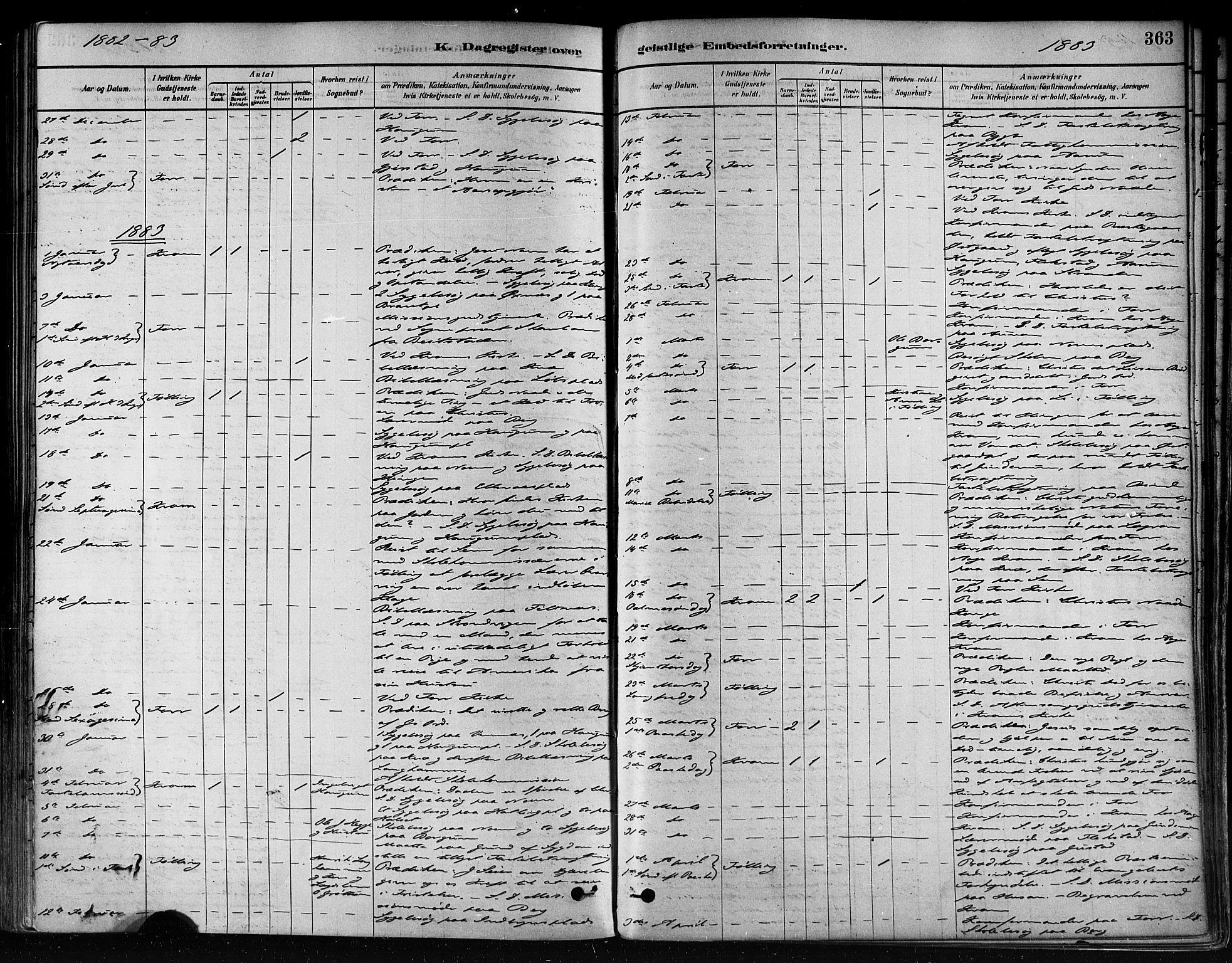 SAT, Ministerialprotokoller, klokkerbøker og fødselsregistre - Nord-Trøndelag, 746/L0448: Ministerialbok nr. 746A07 /1, 1878-1900, s. 363