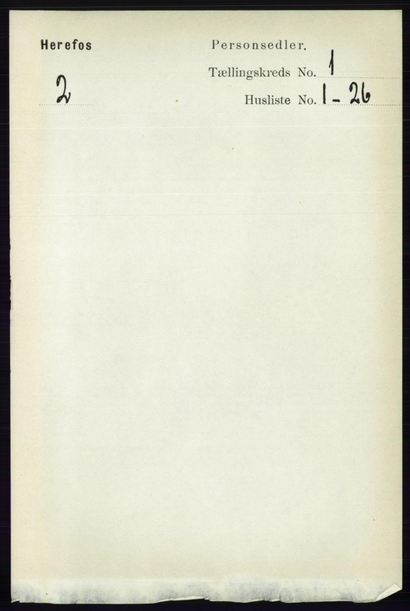 RA, Folketelling 1891 for 0933 Herefoss herred, 1891, s. 40