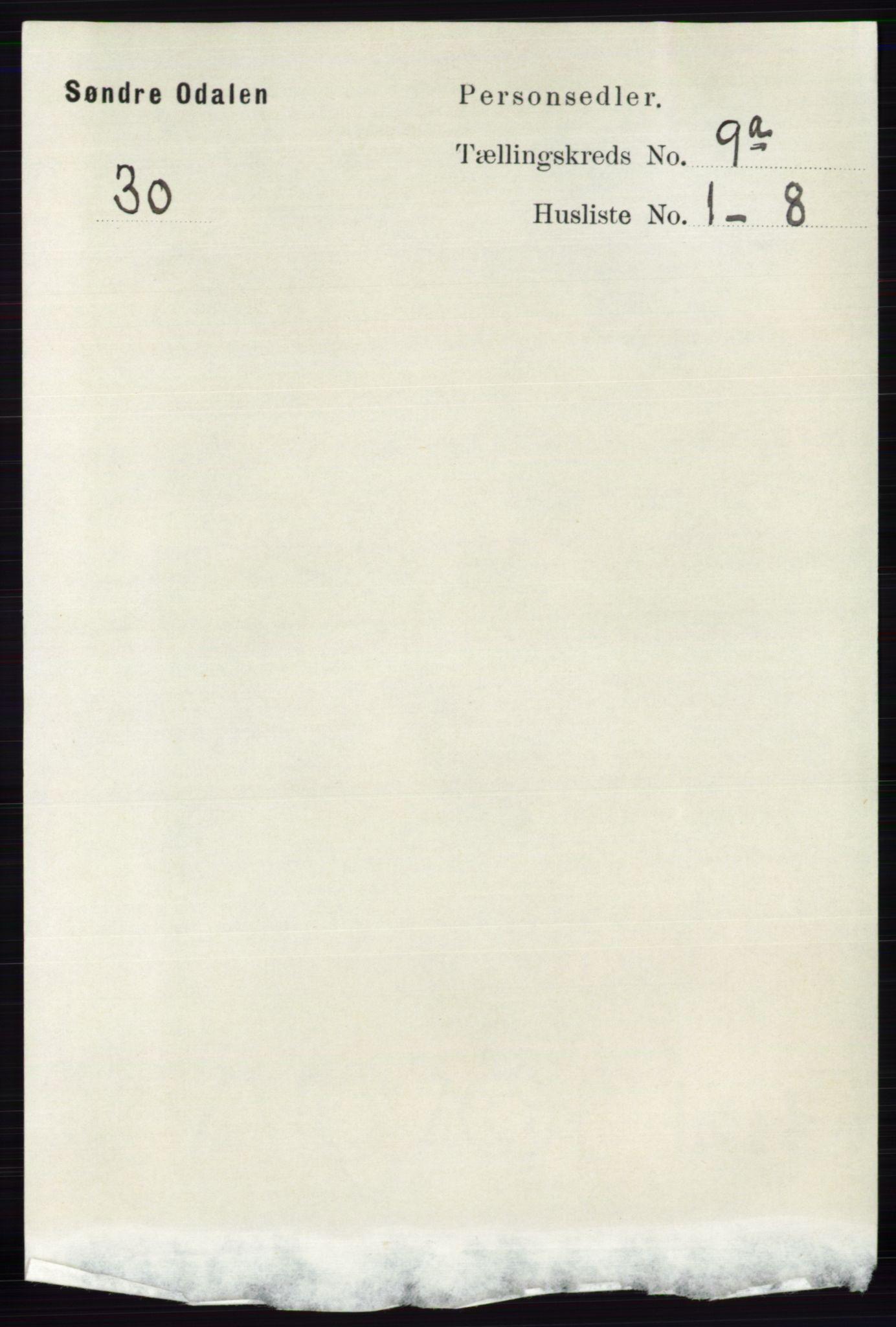 RA, Folketelling 1891 for 0419 Sør-Odal herred, 1891, s. 4070