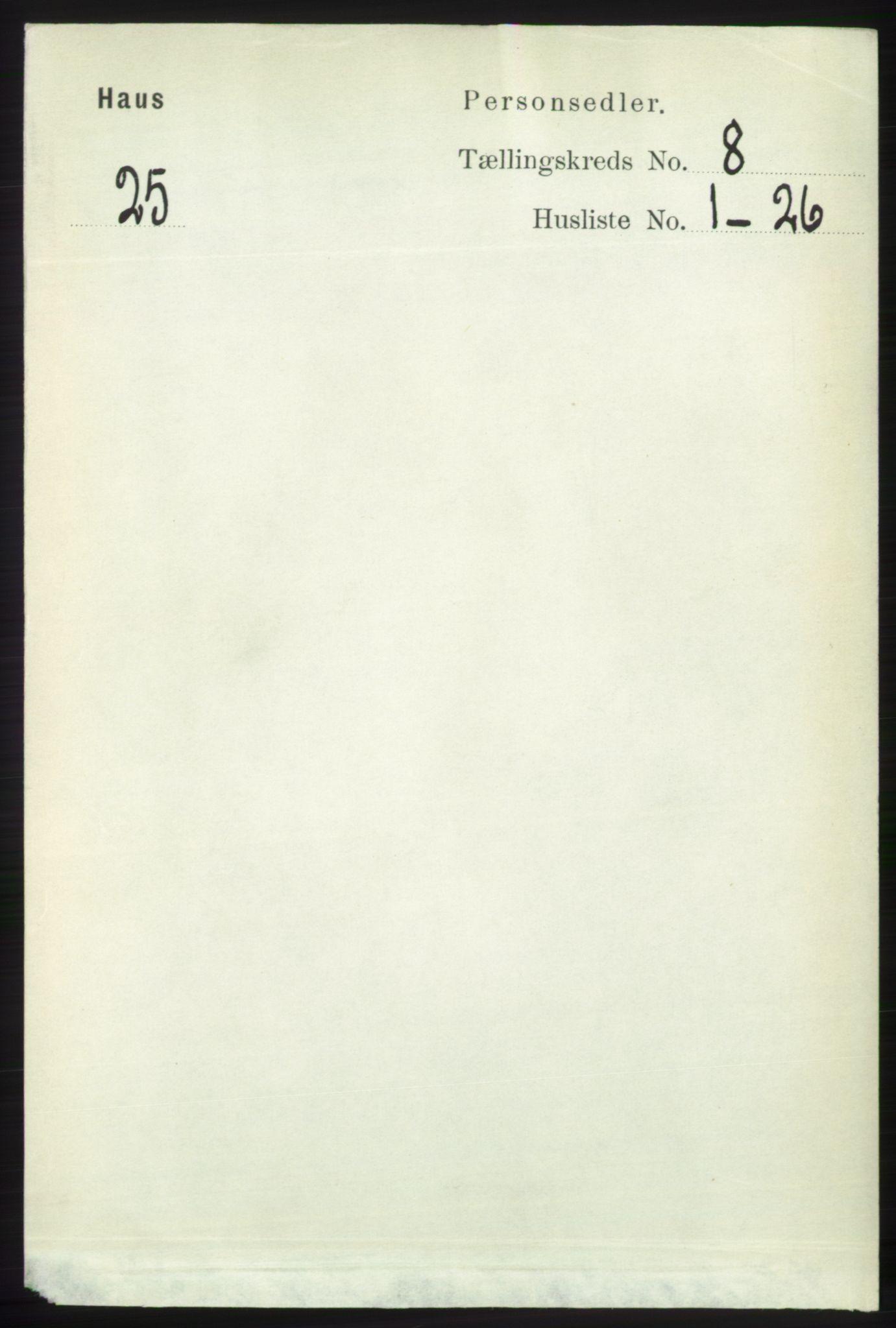 RA, Folketelling 1891 for 1250 Haus herred, 1891, s. 3153