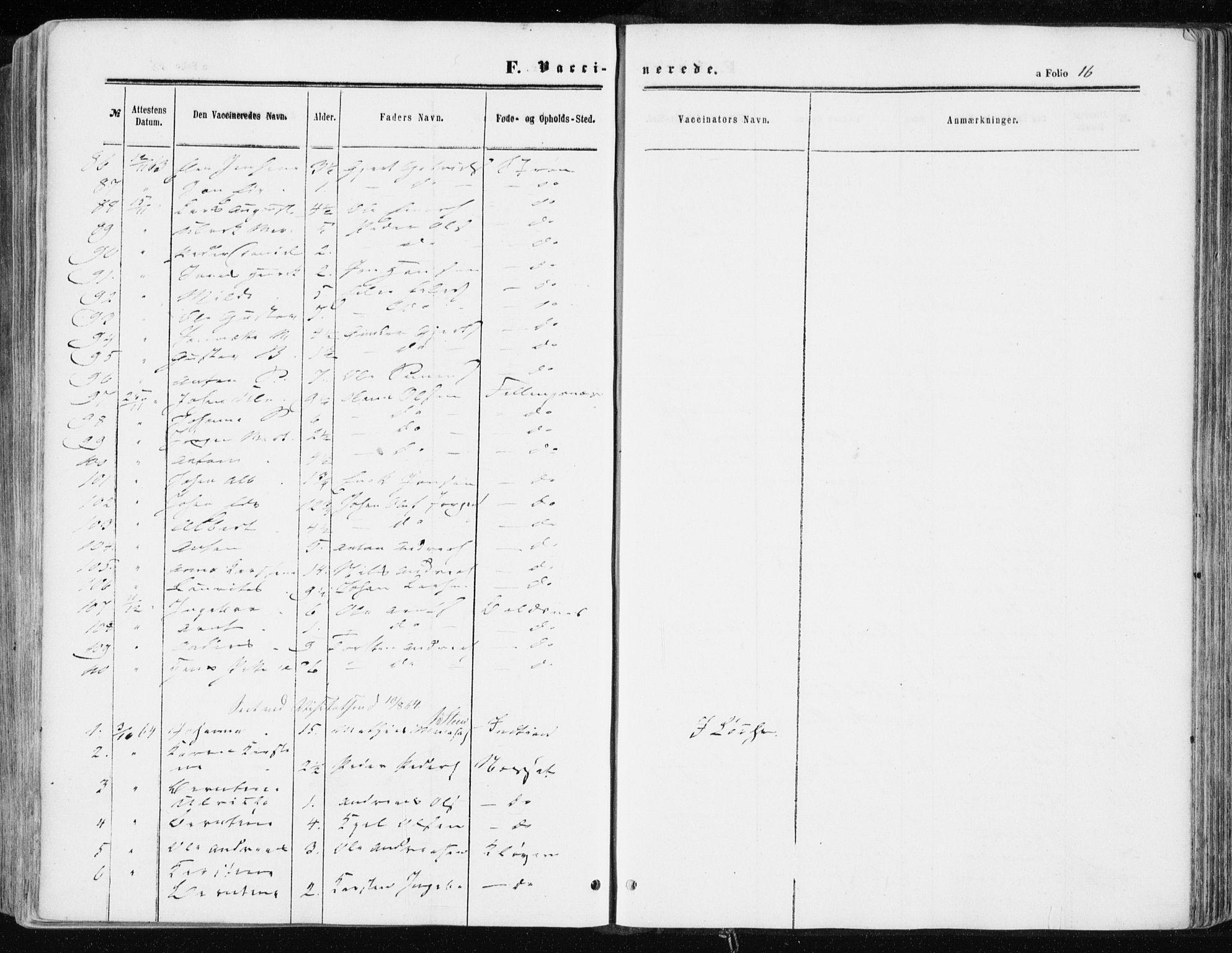 SAT, Ministerialprotokoller, klokkerbøker og fødselsregistre - Sør-Trøndelag, 634/L0531: Ministerialbok nr. 634A07, 1861-1870, s. 16