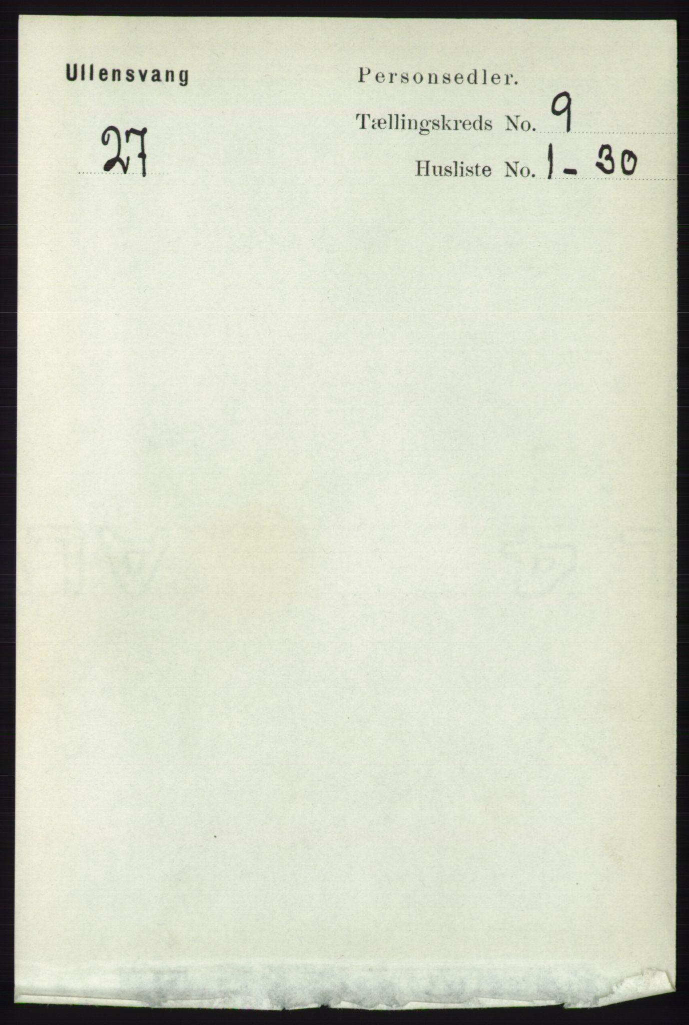 RA, Folketelling 1891 for 1230 Ullensvang herred, 1891, s. 3162