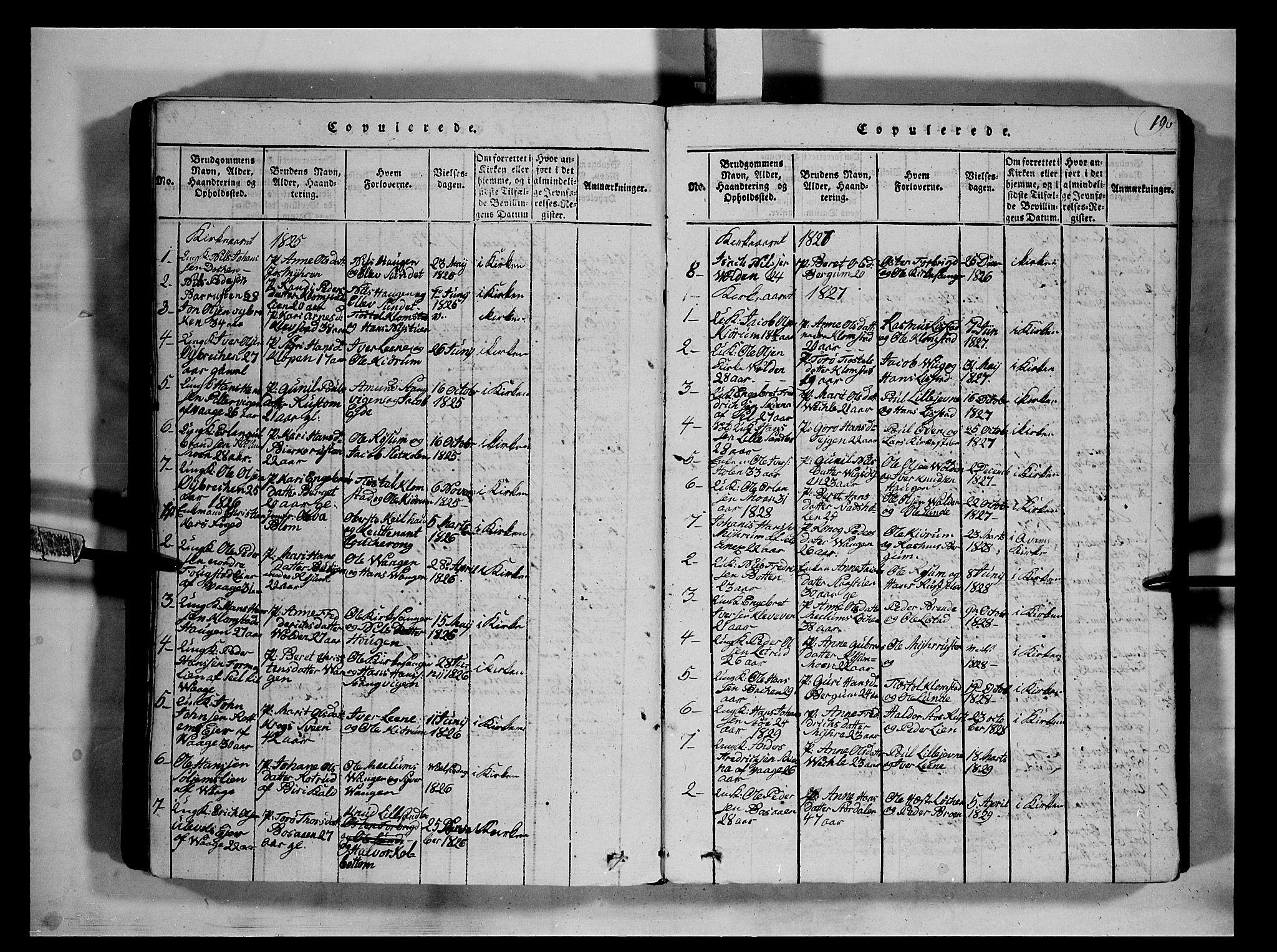 SAH, Fron prestekontor, H/Ha/Hab/L0002: Klokkerbok nr. 2, 1816-1850, s. 196