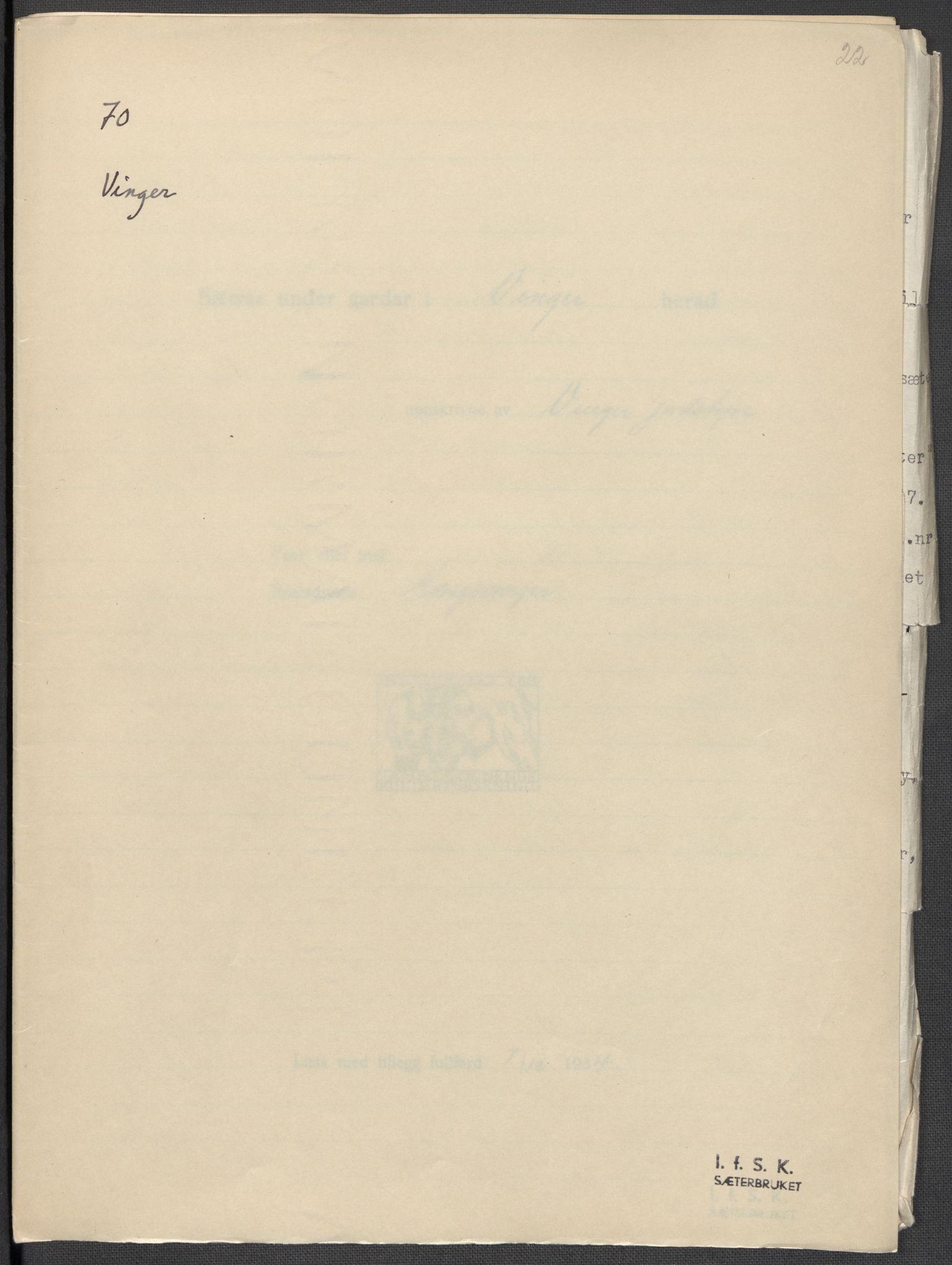 RA, Instituttet for sammenlignende kulturforskning, F/Fc/L0003: Eske B3:, 1934-1935, s. 22
