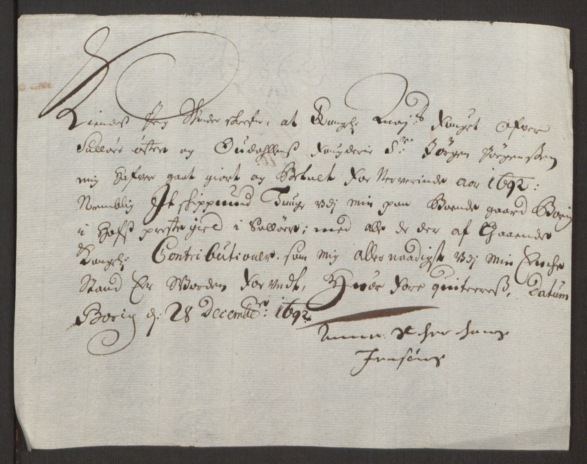 RA, Rentekammeret inntil 1814, Reviderte regnskaper, Fogderegnskap, R13/L0830: Fogderegnskap Solør, Odal og Østerdal, 1692, s. 411