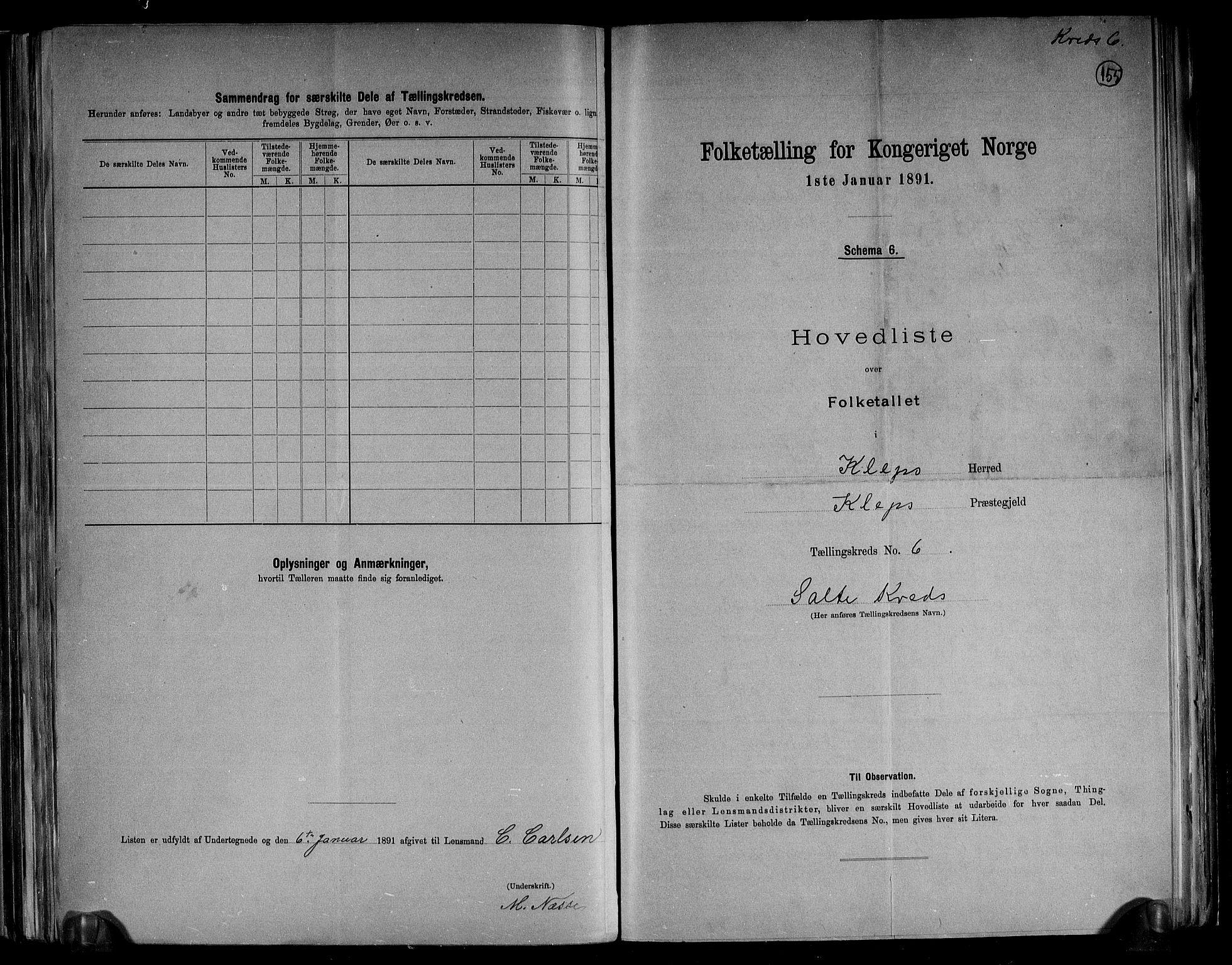 RA, Folketelling 1891 for 1120 Klepp herred, 1891, s. 16