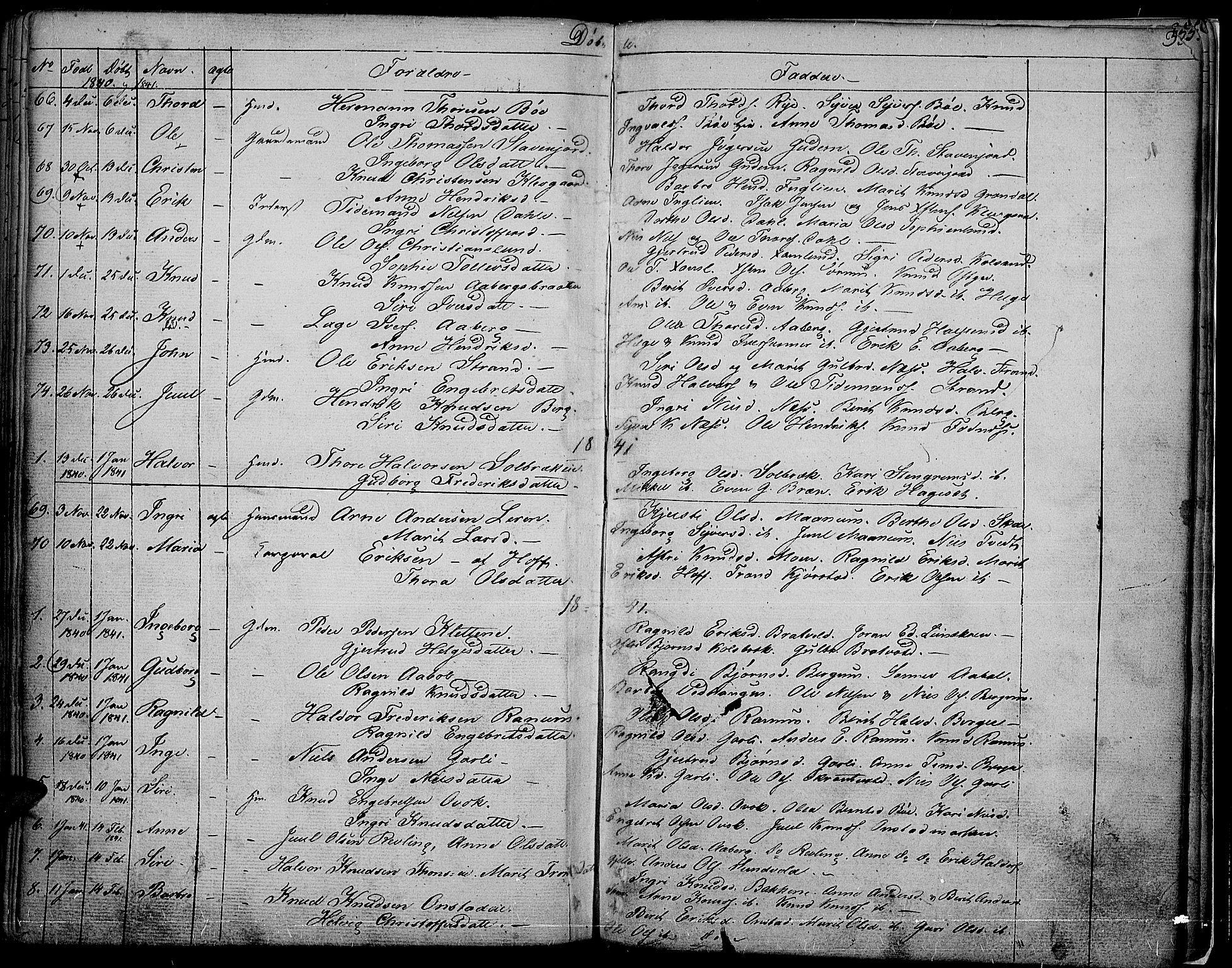 SAH, Nord-Aurdal prestekontor, Ministerialbok nr. 3, 1828-1841, s. 354