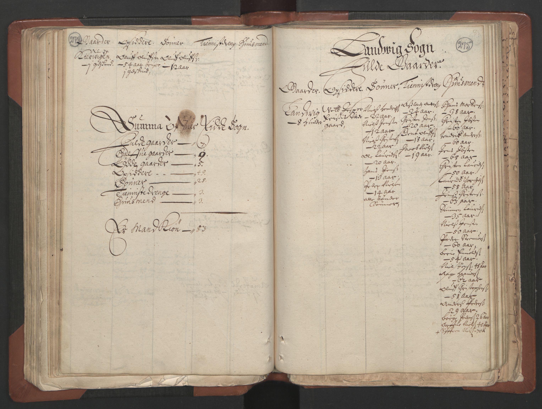 RA, Fogdenes og sorenskrivernes manntall 1664-1666, nr. 7: Nedenes fogderi, 1664-1666, s. 274-275