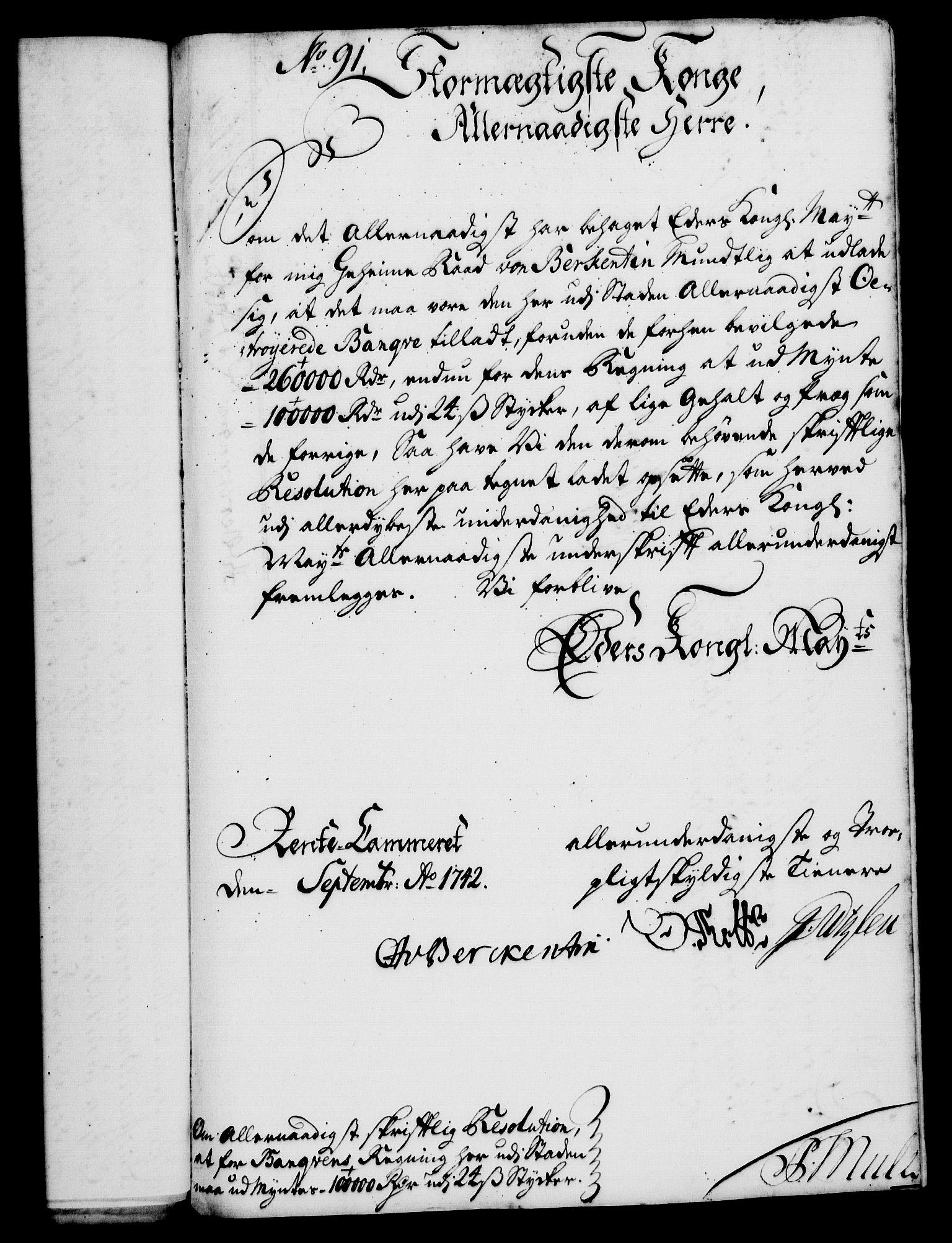 RA, Rentekammeret, Kammerkanselliet, G/Gf/Gfa/L0025: Norsk relasjons- og resolusjonsprotokoll (merket RK 52.25), 1742, s. 579