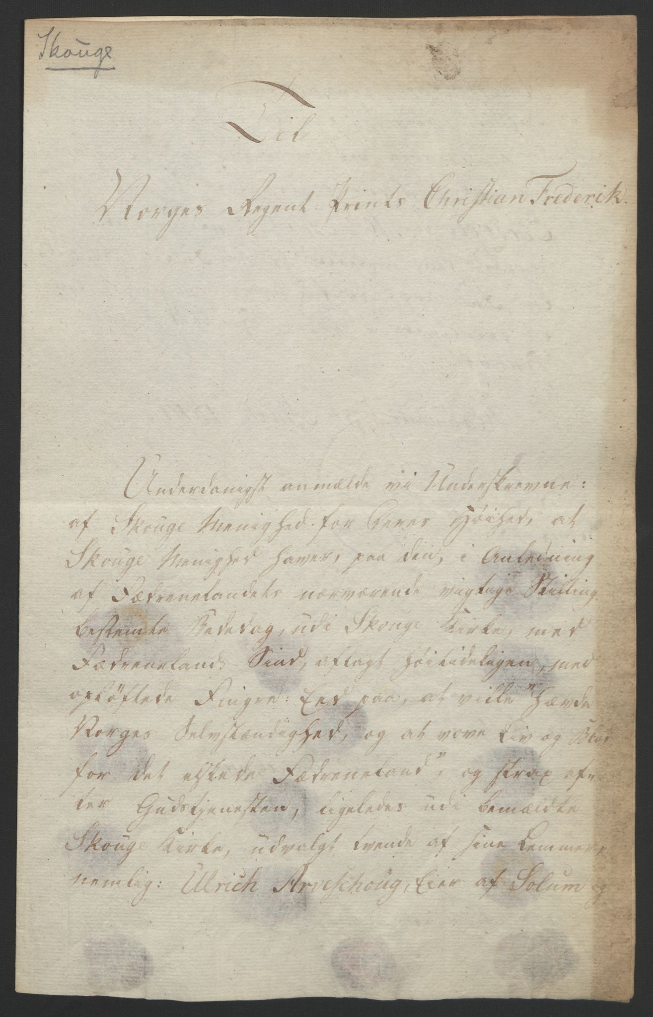 RA, Statsrådssekretariatet, D/Db/L0008: Fullmakter for Eidsvollsrepresentantene i 1814. , 1814, s. 22