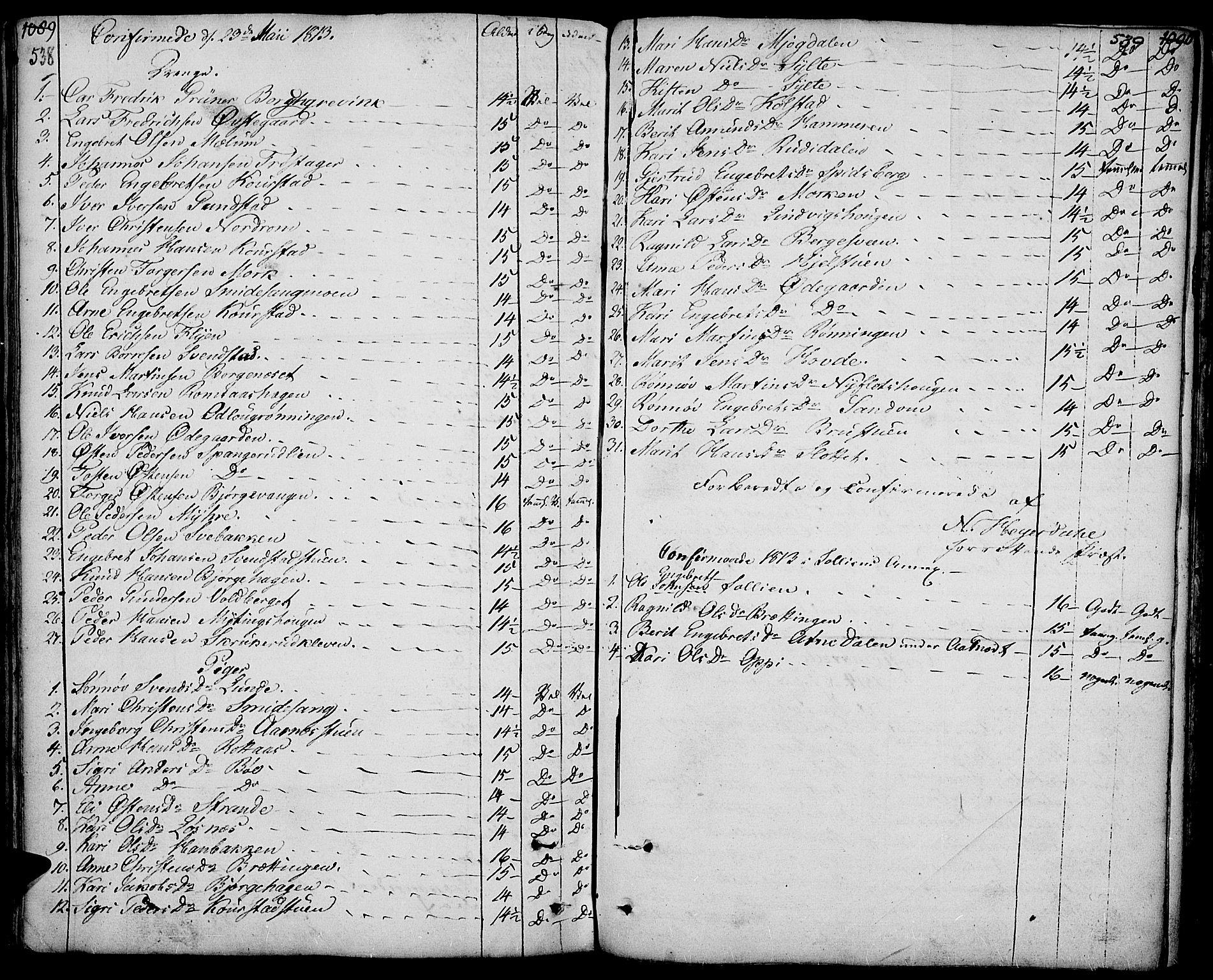 SAH, Ringebu prestekontor, Ministerialbok nr. 3, 1781-1820, s. 538-539
