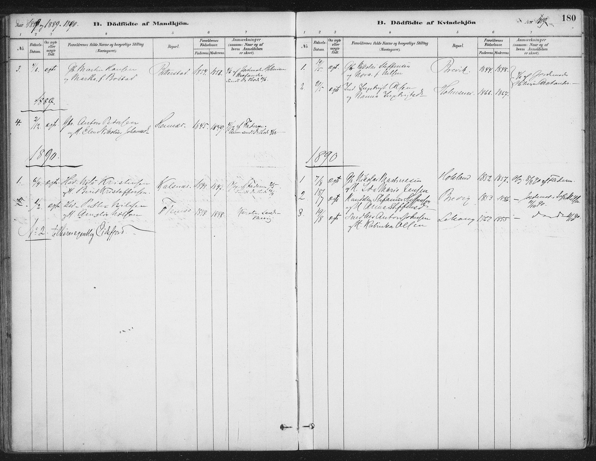 SAT, Ministerialprotokoller, klokkerbøker og fødselsregistre - Nordland, 888/L1244: Ministerialbok nr. 888A10, 1880-1890, s. 180