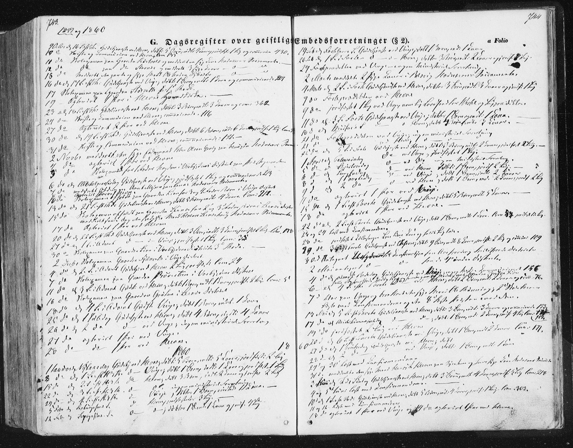 SAT, Ministerialprotokoller, klokkerbøker og fødselsregistre - Sør-Trøndelag, 630/L0494: Ministerialbok nr. 630A07, 1852-1868, s. 743-744