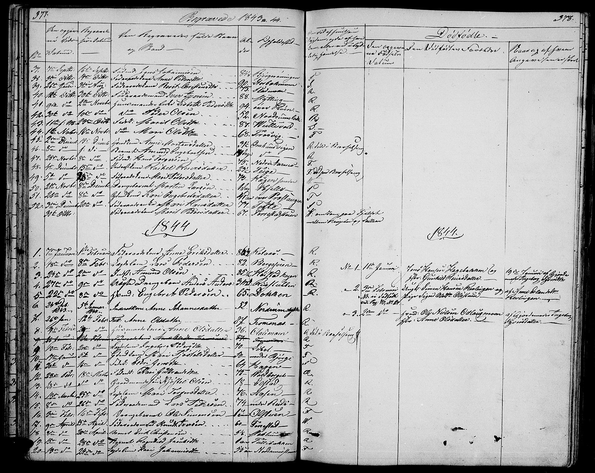 SAH, Ringebu prestekontor, Klokkerbok nr. 2, 1839-1853, s. 377-378