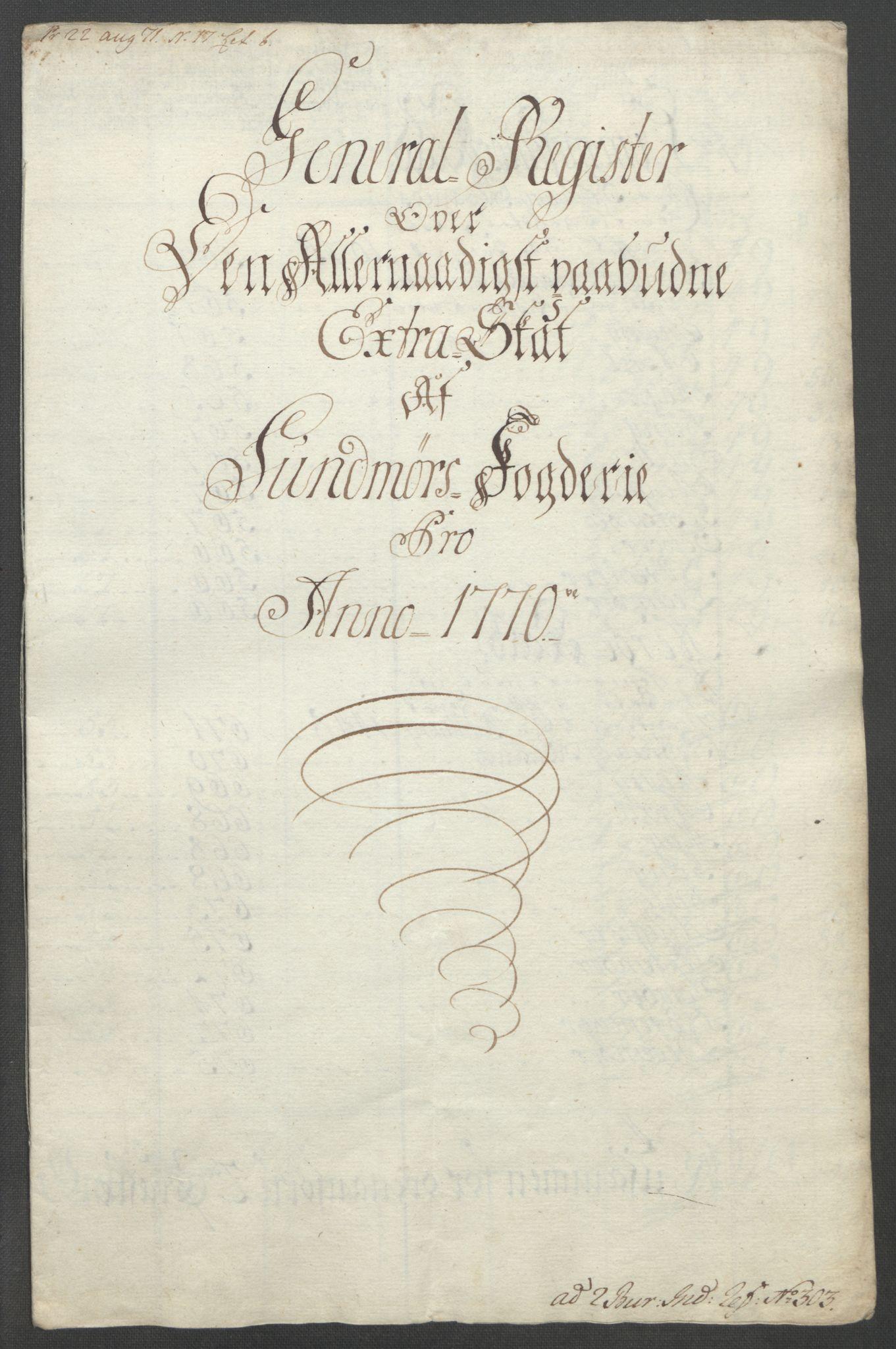 RA, Rentekammeret inntil 1814, Reviderte regnskaper, Fogderegnskap, R54/L3645: Ekstraskatten Sunnmøre, 1762-1772, s. 180