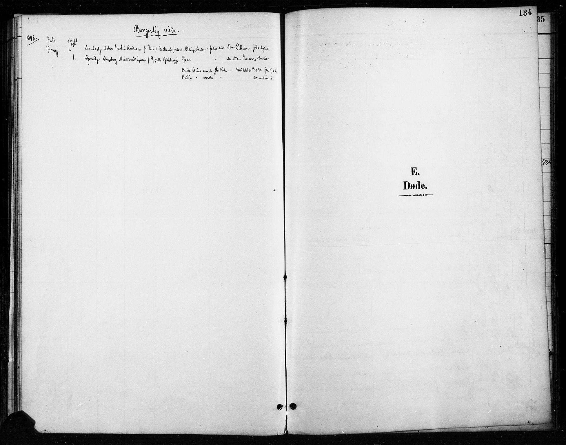 SAH, Gran prestekontor, Ministerialbok nr. 18, 1889-1899, s. 134