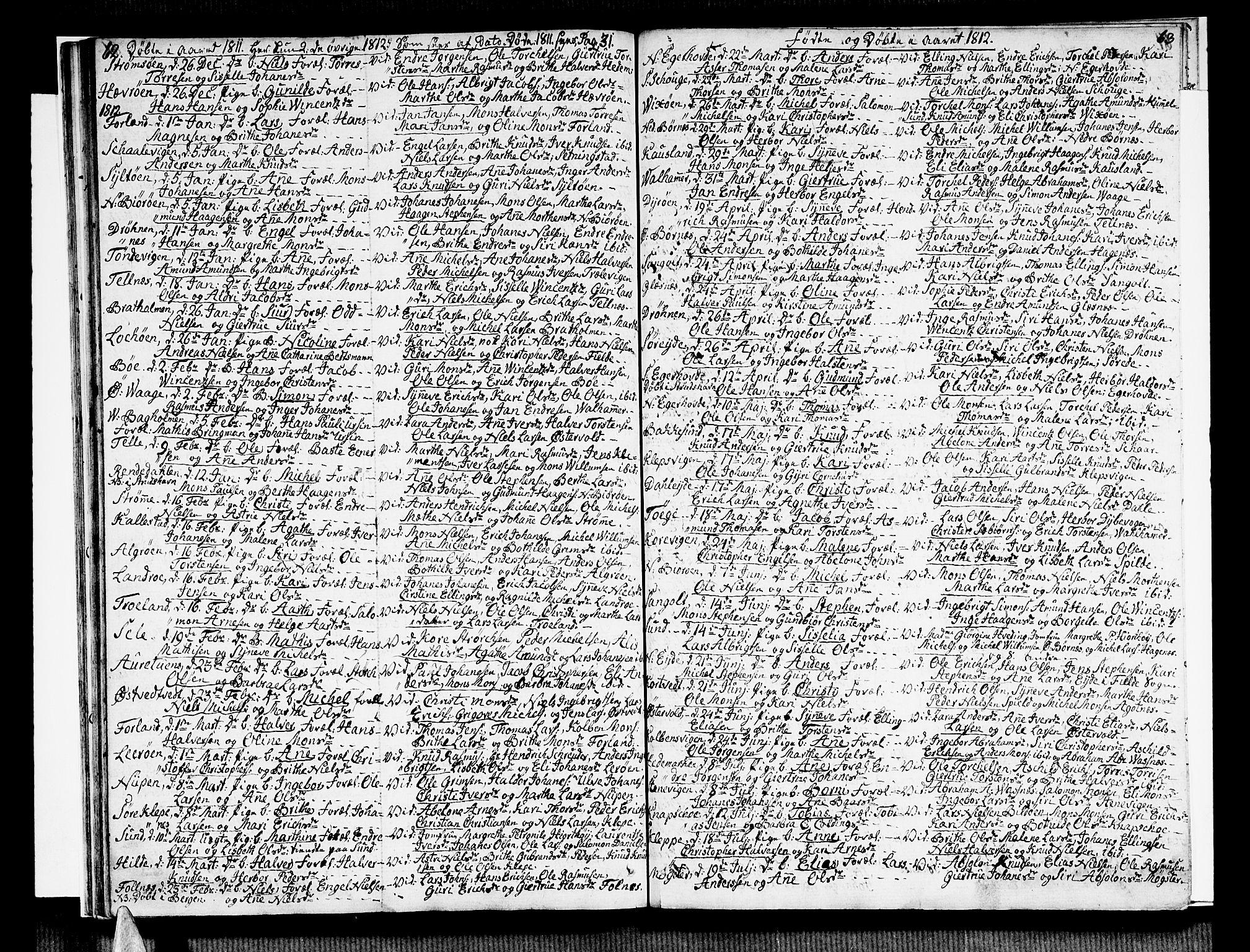 SAB, Sund sokneprestembete, Ministerialbok nr. A 10, 1804-1818, s. 62-63