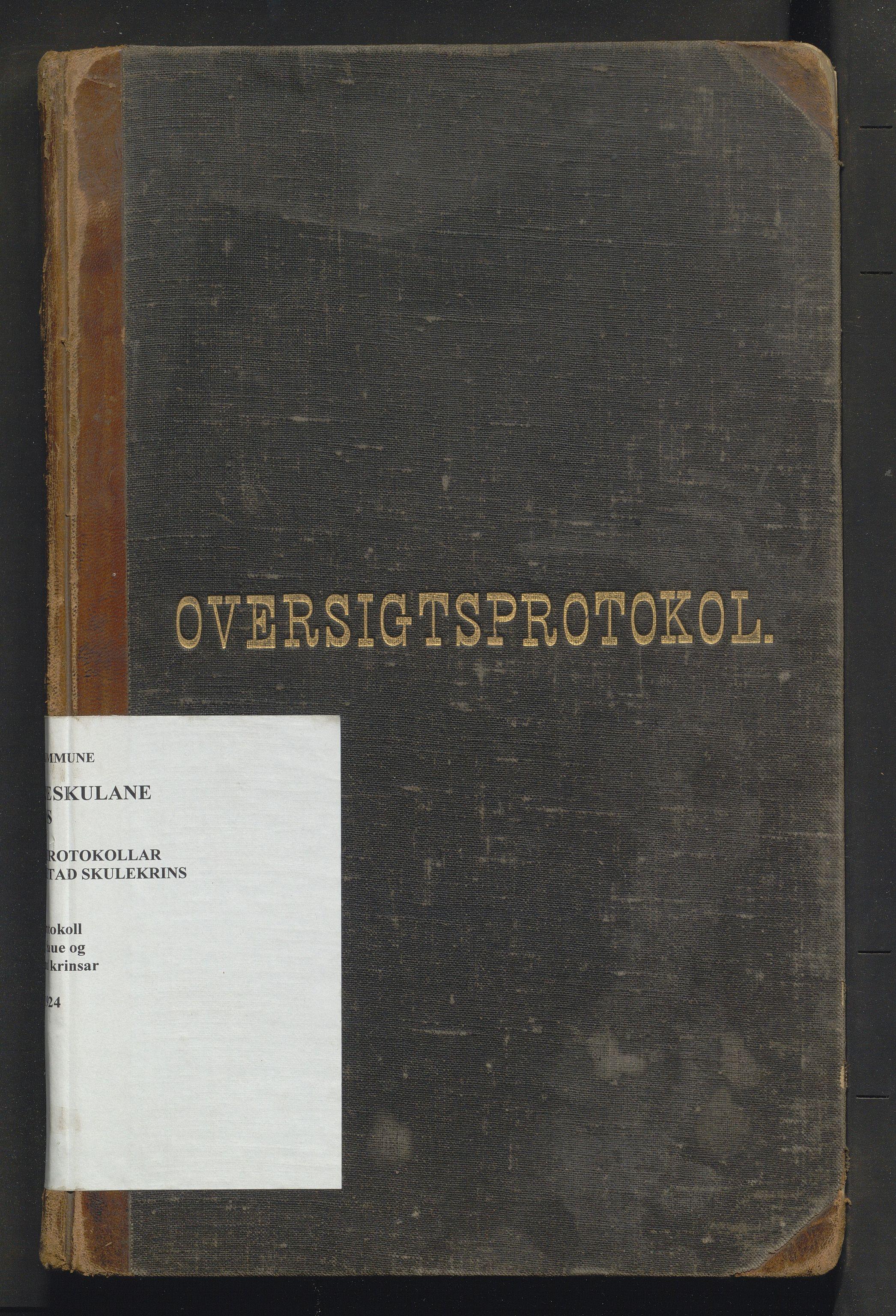 IKAH, Voss kommune. Barneskulane, F/Fd/L0003: Skuleprotokoll for Leidal, Saue og Grotland krinsar, 1893-1924